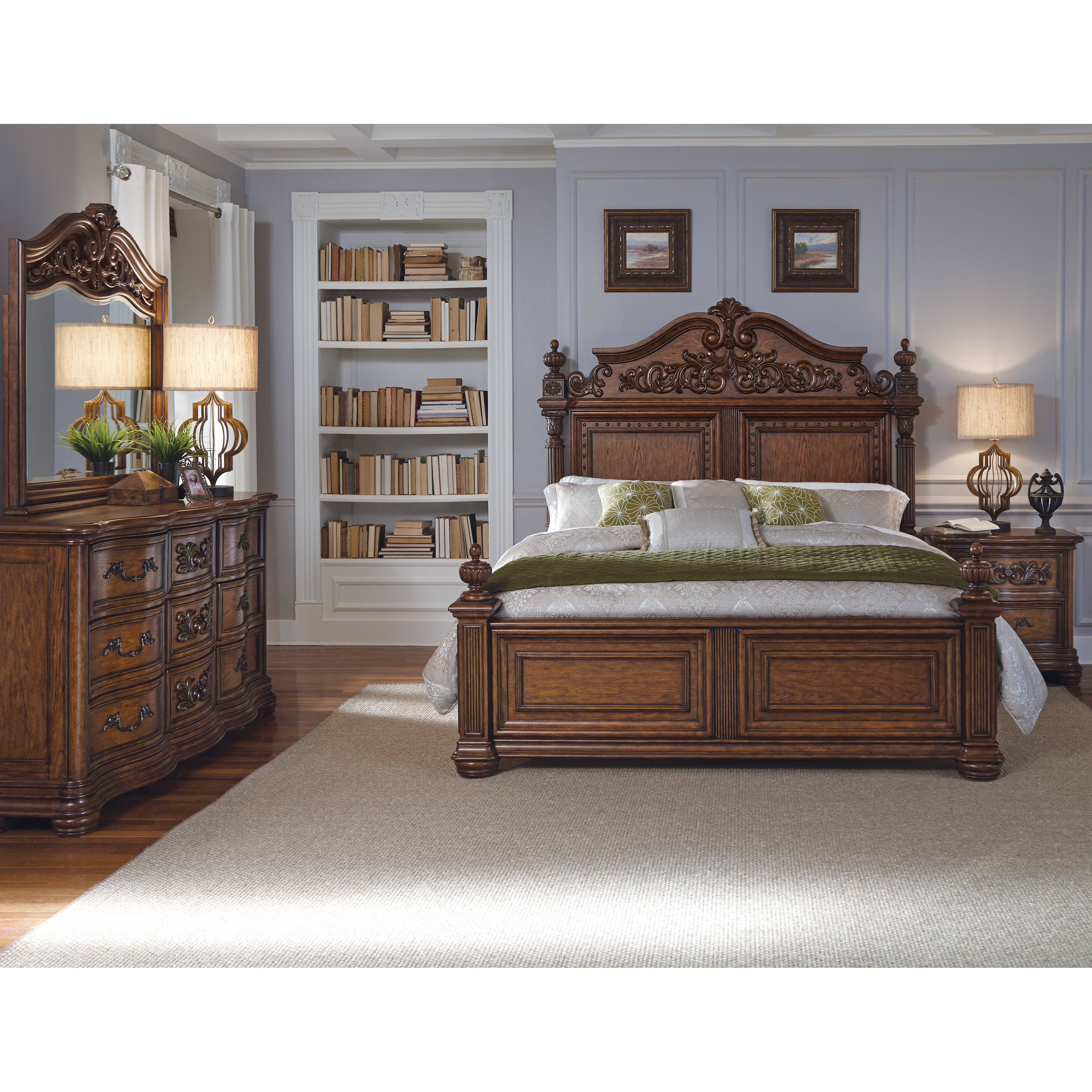 Pulaski cheswick four poster customizable bedroom set for Furniture 2 day shipping