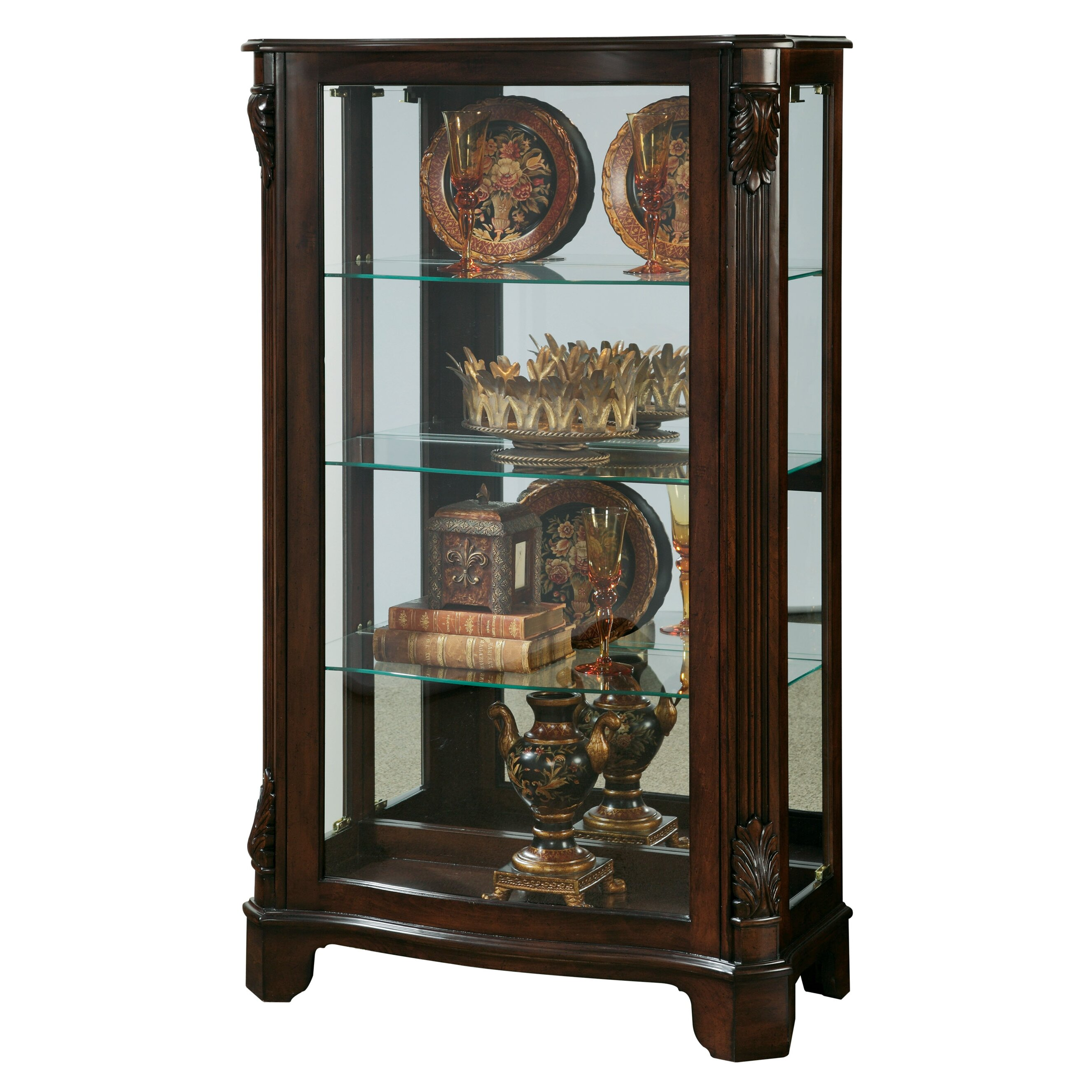 Cabinet Mantel: Pulaski Mantel Curio Cabinet & Reviews