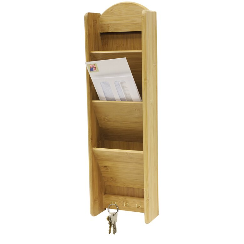 Home basics 3 tier letter rack with key hook reviews wayfair - Key and letter rack ...