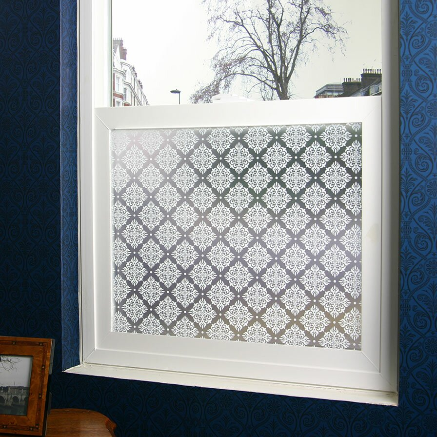 Odhams press damask privacy window film reviews wayfair for Vinyl window designs complaints