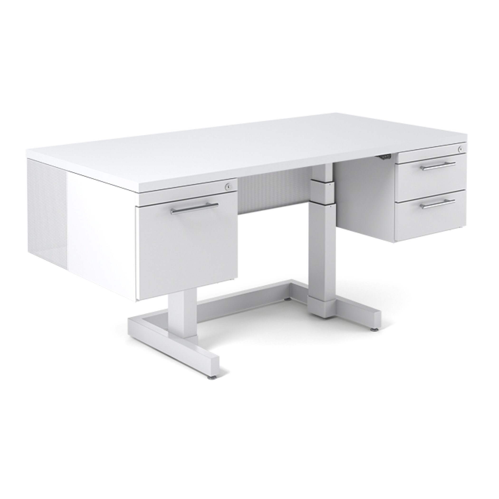 BOLD Furniture One Standing Desk with File Wayfair Supply