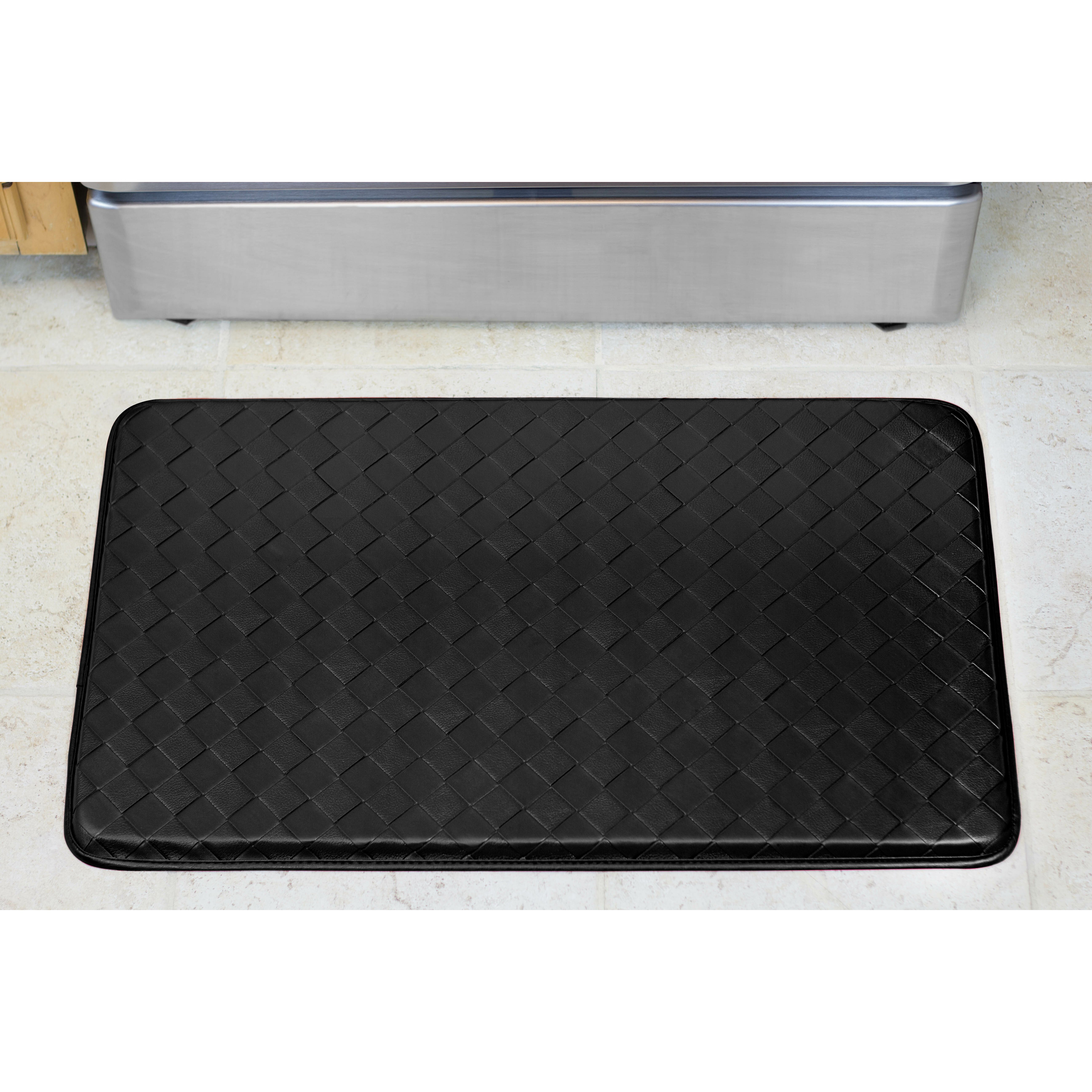 Chef Gear Anti Fatigue Faux Leather Kitchen Chef Mat