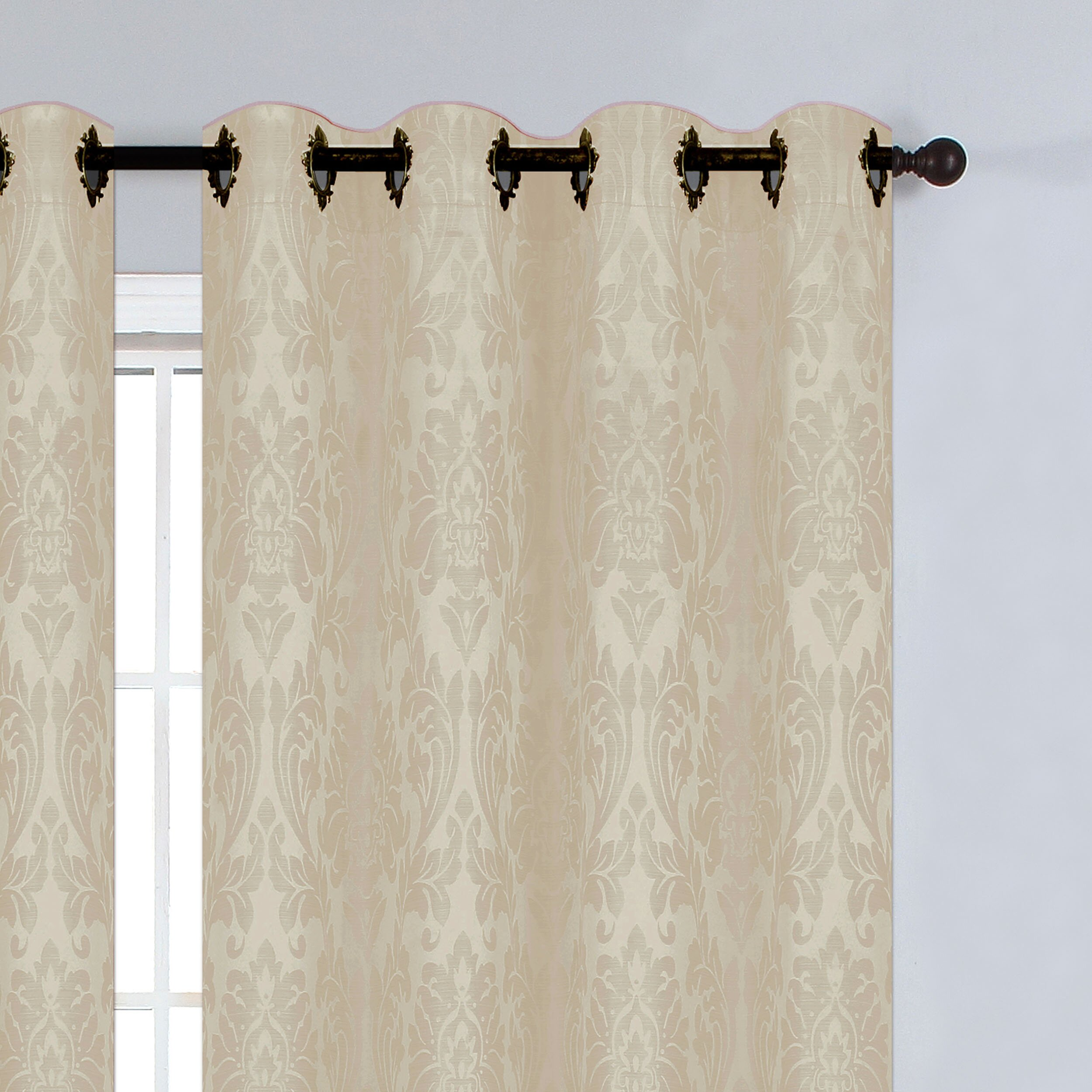 Window Elements Veronica Jacquard Extra Wide Grommet Curtain Panels Reviews Wayfair