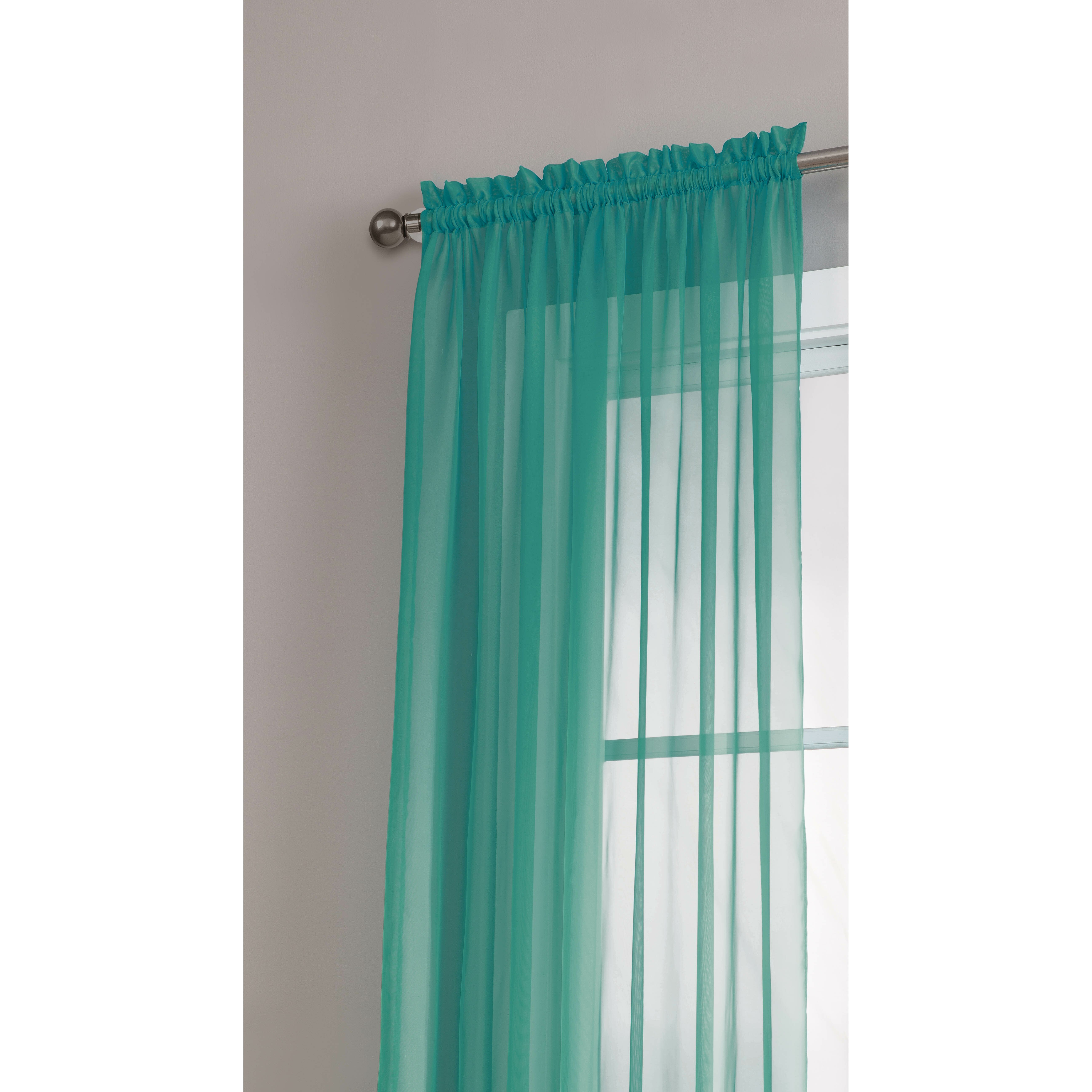 Window Elements Diamond Sheer Voile Extra Wide Rod Pocket Single Curtain Panel Reviews