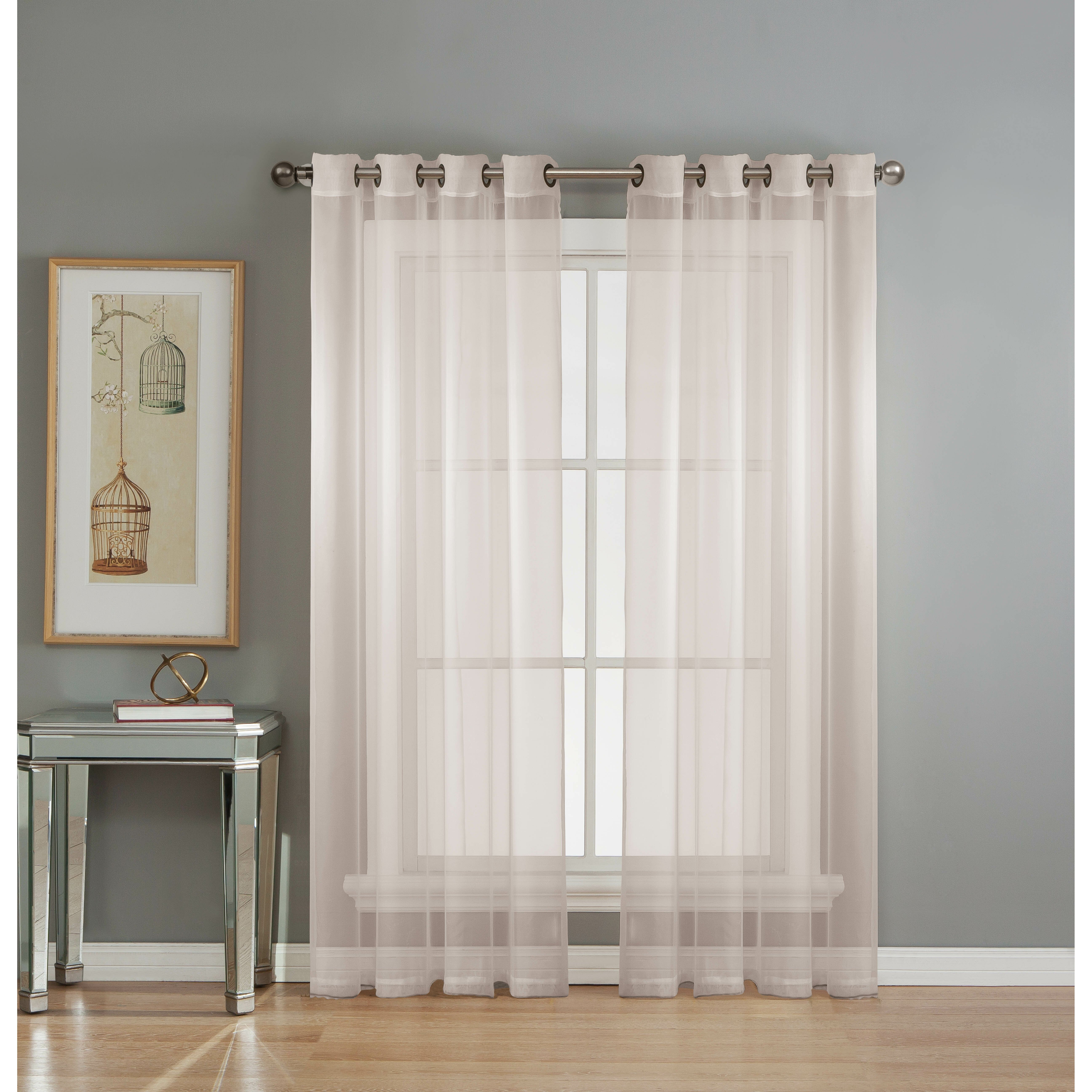 Window Elements Diamond Sheer Voile Extra Wide Grommet Single Curtain Panel Reviews Wayfair