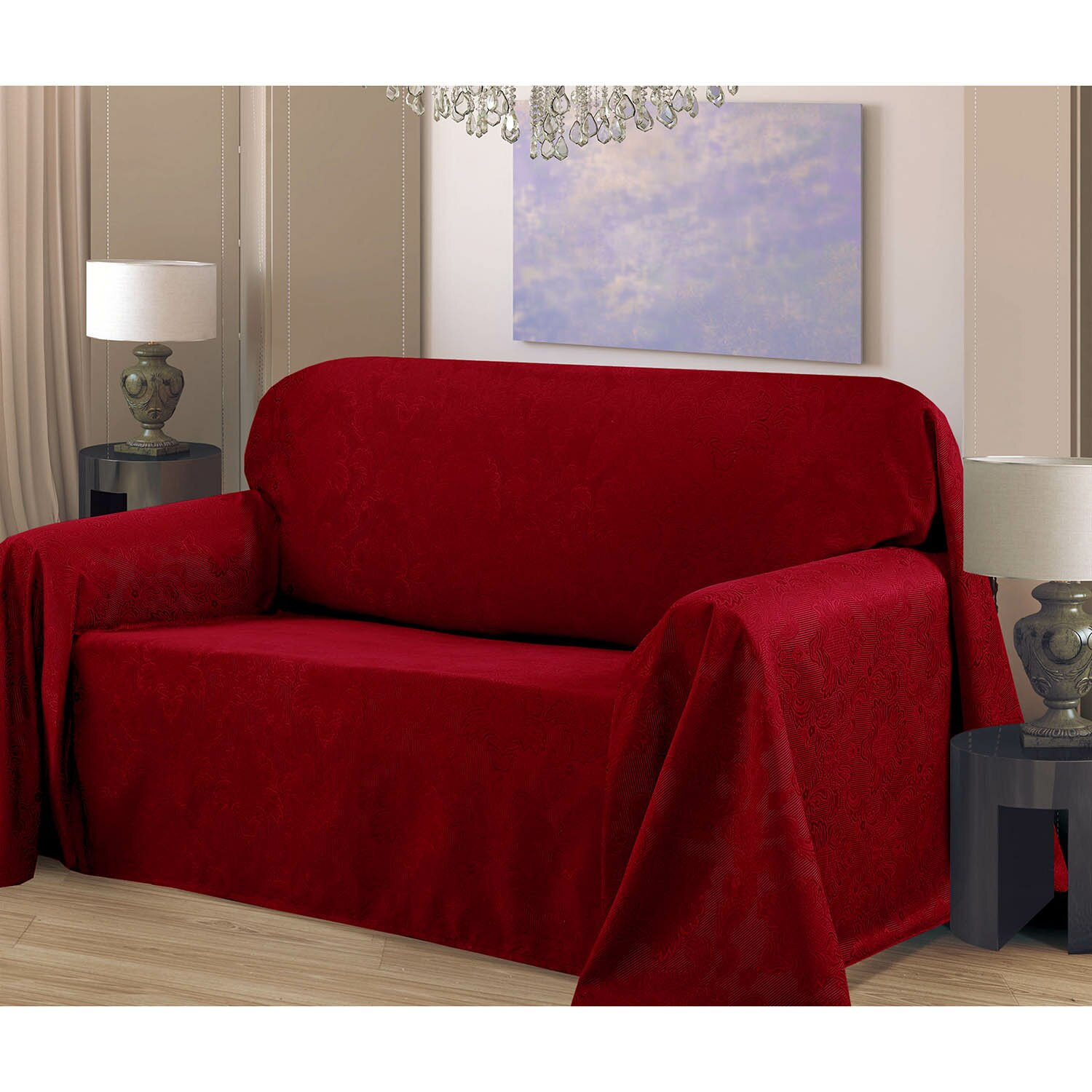 Bella Luna Medallion Sofa Slip Cover Amp Reviews Wayfair Ca