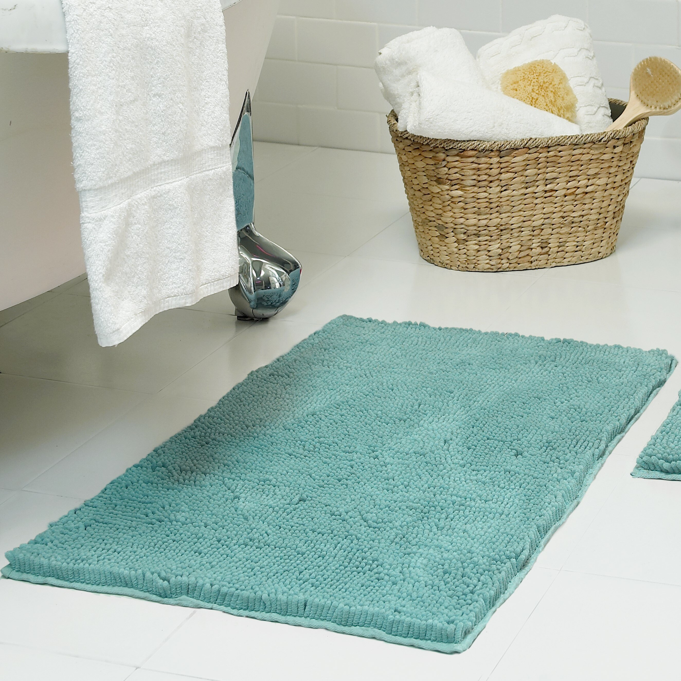 Resort Collection Chenille Plush Bath Mat Reviews Wayfair