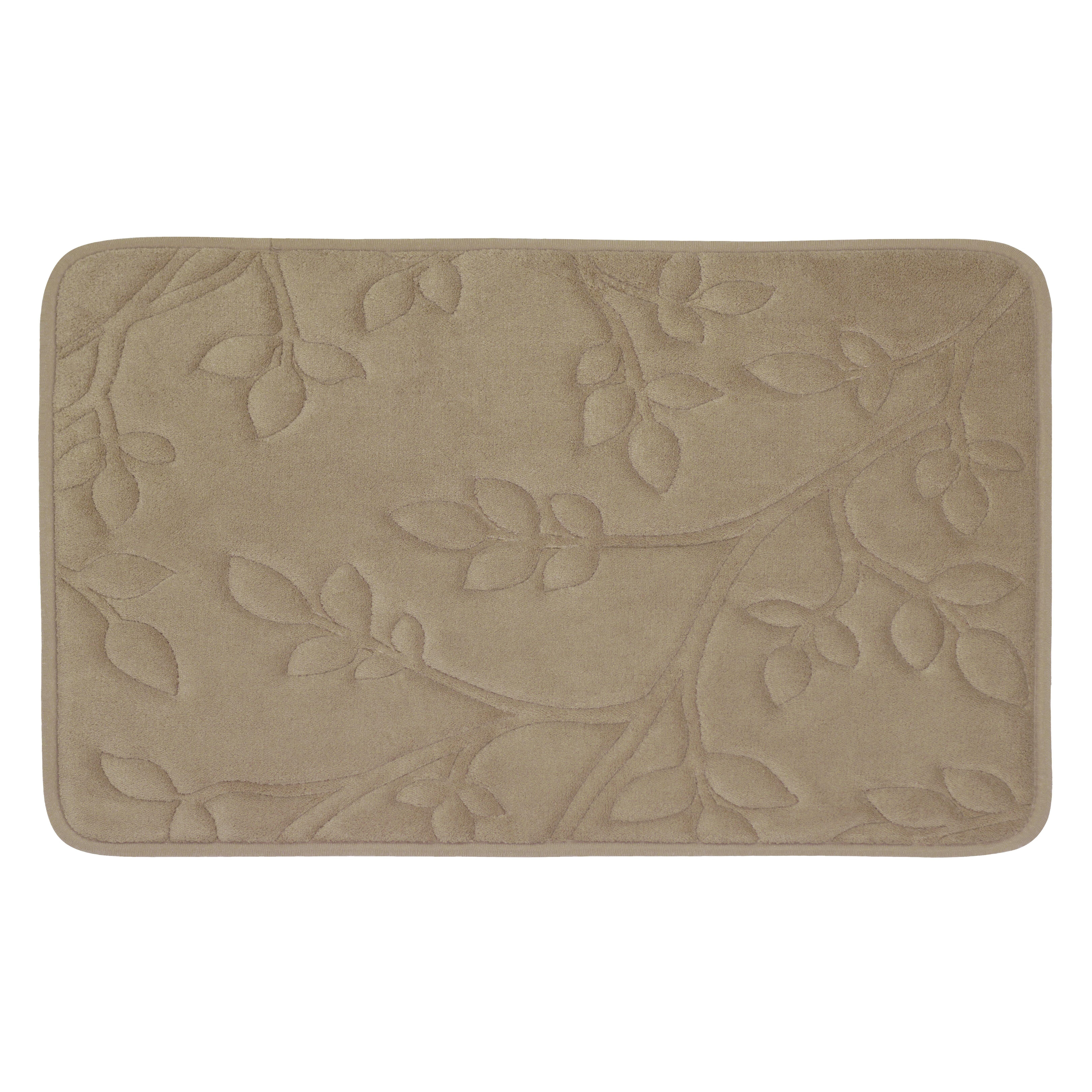 Bath Studio Spring Leaves Micro Plush Memory Foam Bath Mat