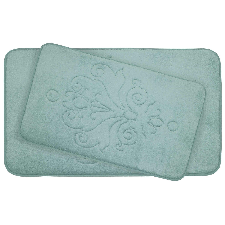 bath studio reve 2 piece micro plush memory foam bath mat set reviews wayfair. Black Bedroom Furniture Sets. Home Design Ideas