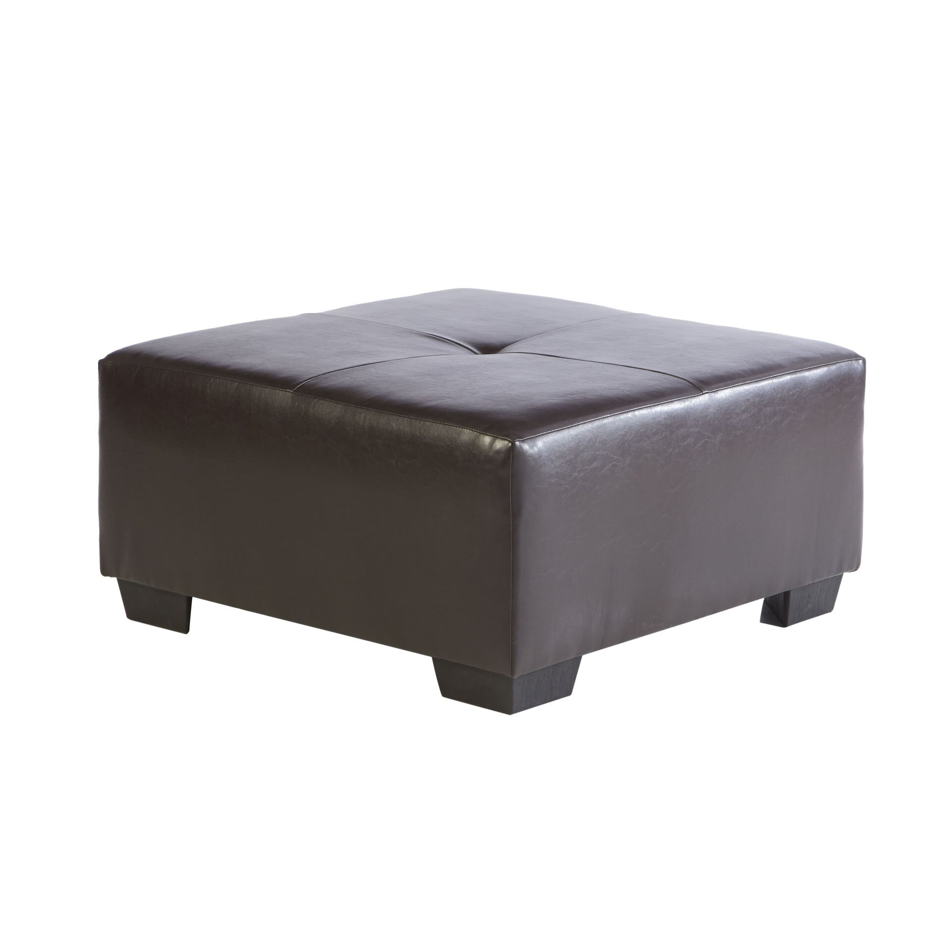 Three Posts Polycarp Storage Ottoman Reviews: Three Posts Camden Leather Ottoman & Reviews