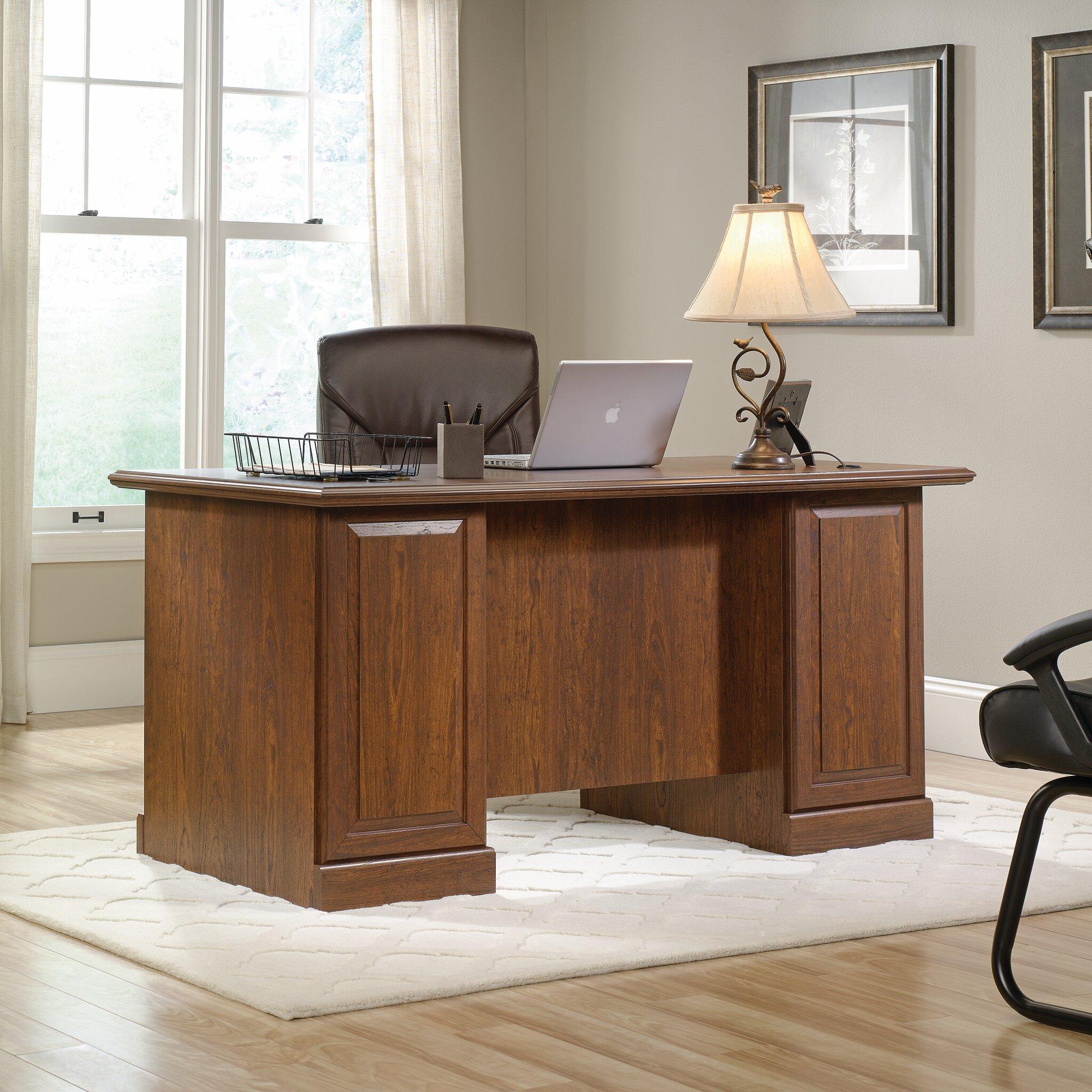 Three Posts Bauman Executive Desk Reviews Wayfair