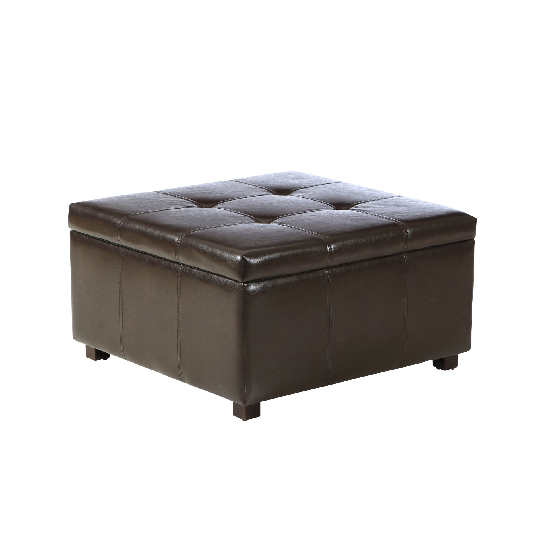 Three Posts Ehlert Faux Leather Storage Ottoman Amp Reviews