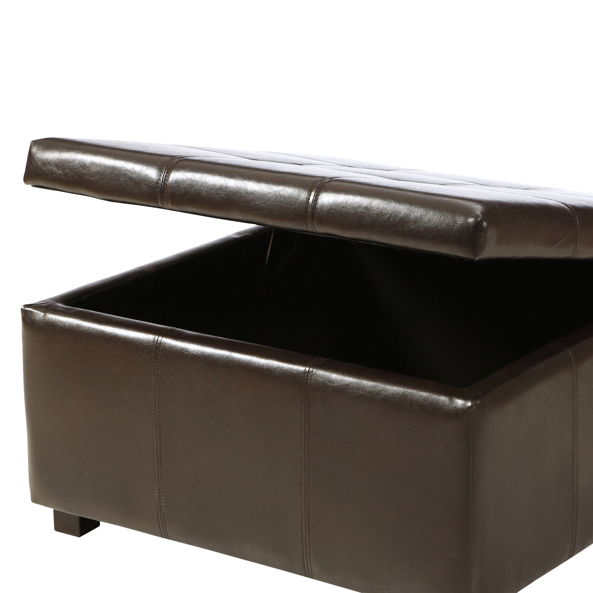 Three Posts Polycarp Storage Ottoman Reviews: Three Posts Ehlert Faux Leather Storage Ottoman & Reviews