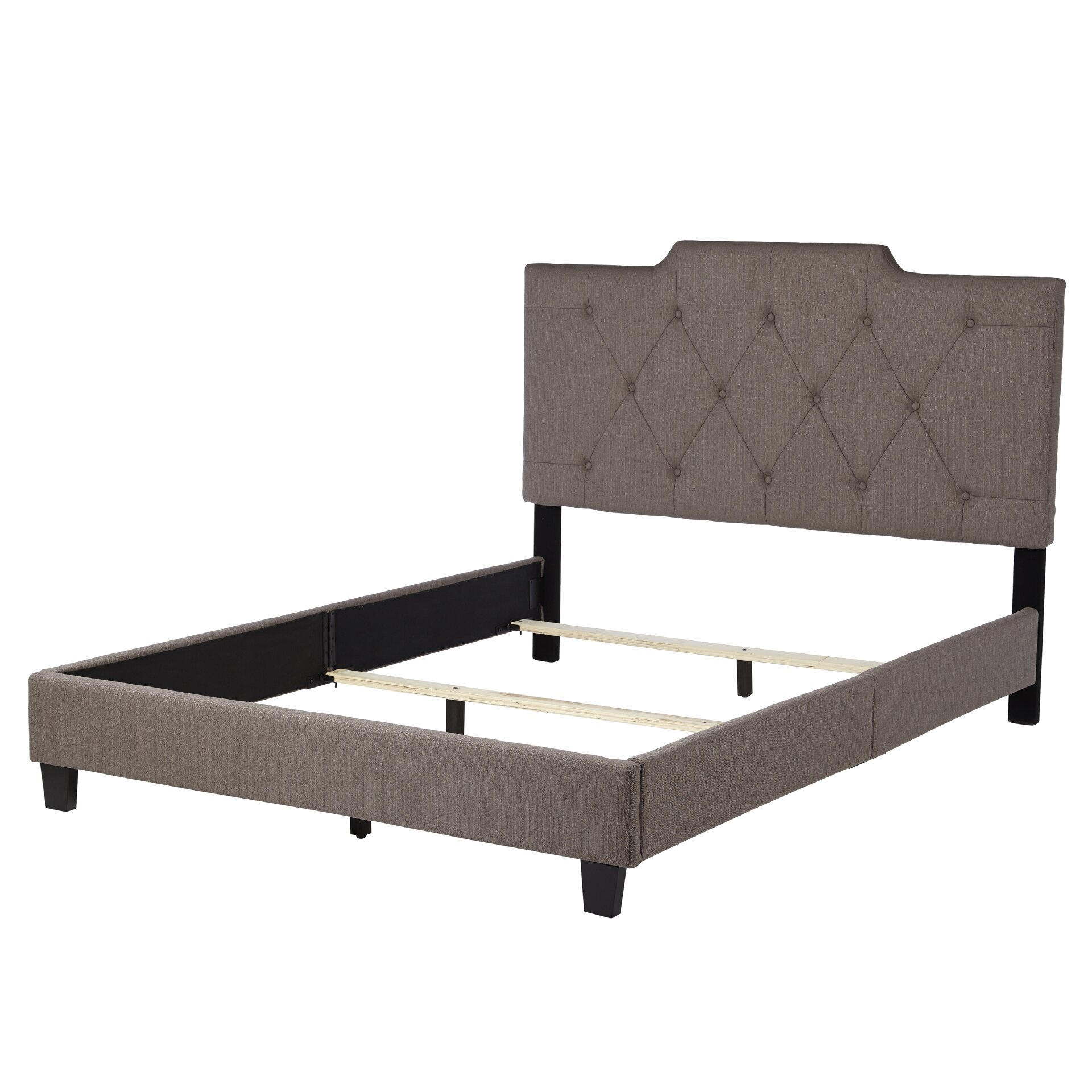 Three posts queen upholstered panel bed reviews wayfair for Panel bed mattress