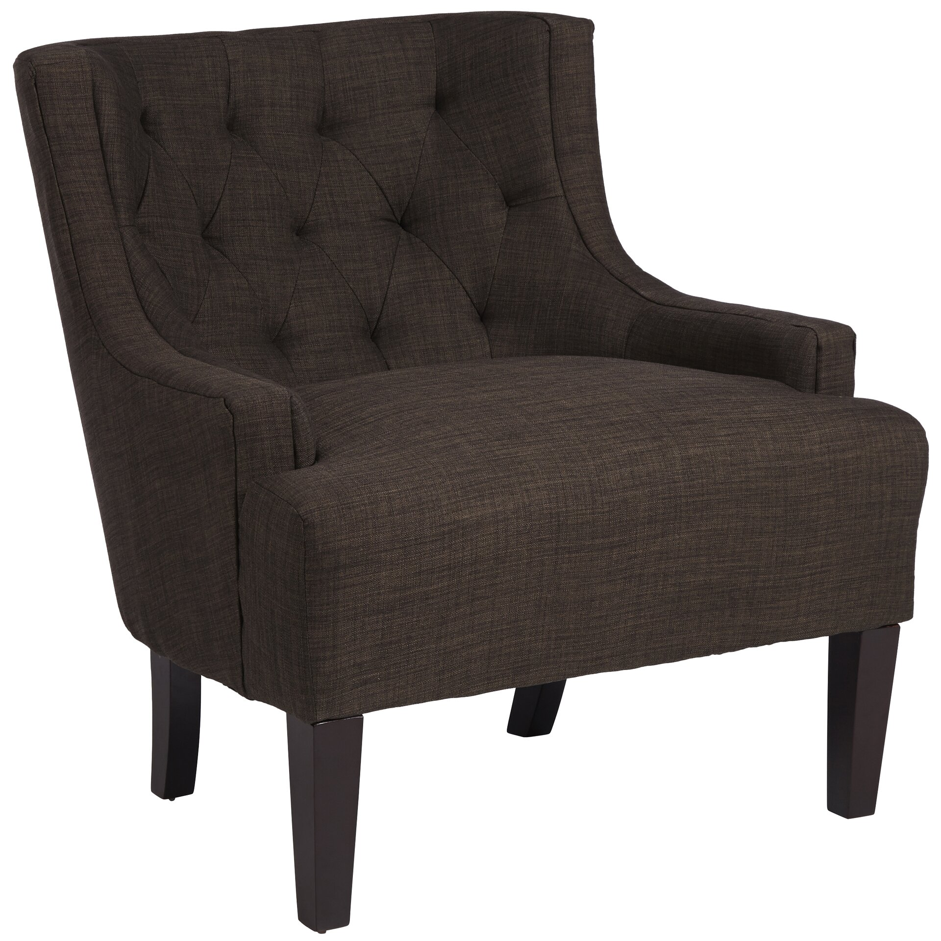 Three posts barwood tufted accent arm chair reviews Tufted accent chair