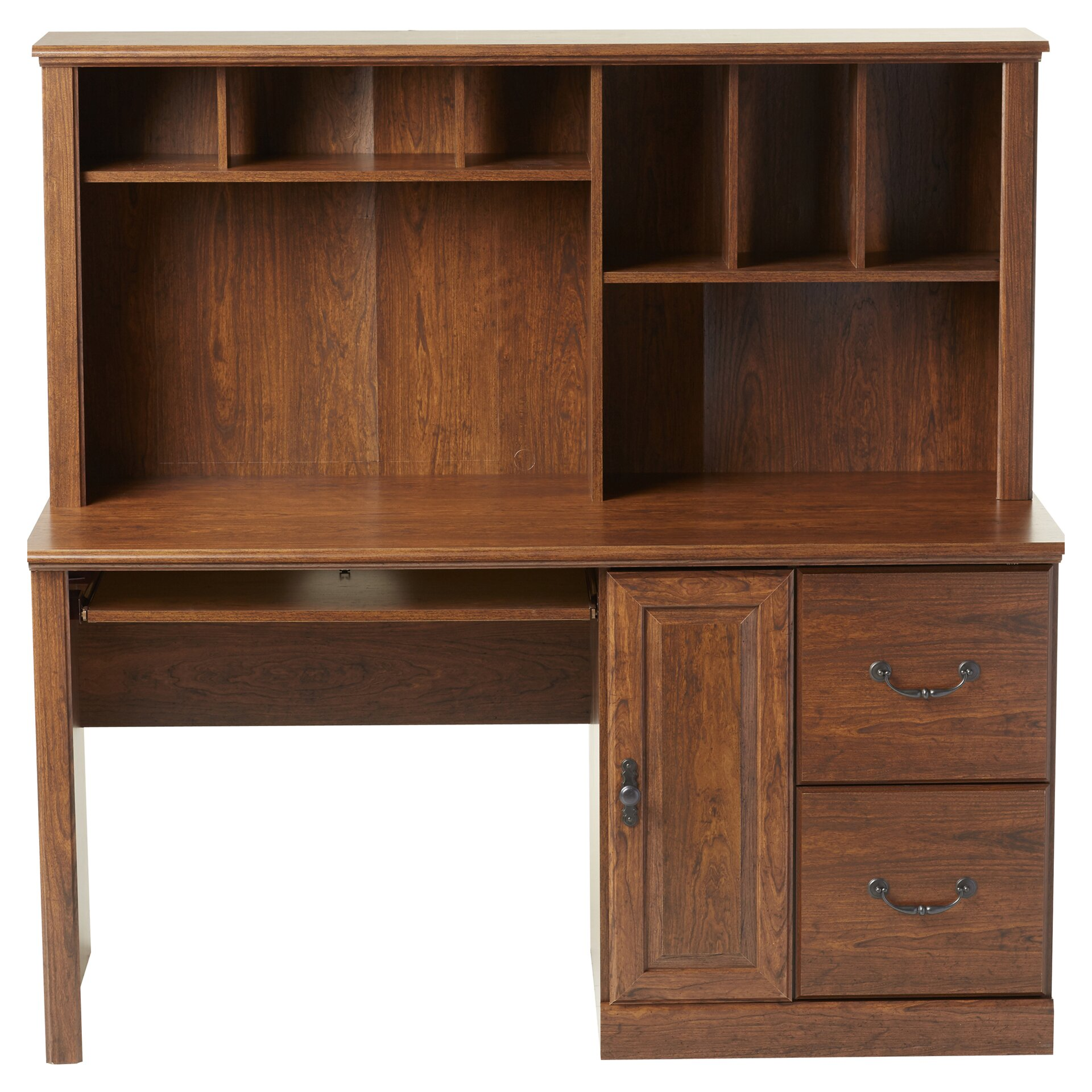 Three Posts Leith Computer Desk With Hutch Reviews Wayfair