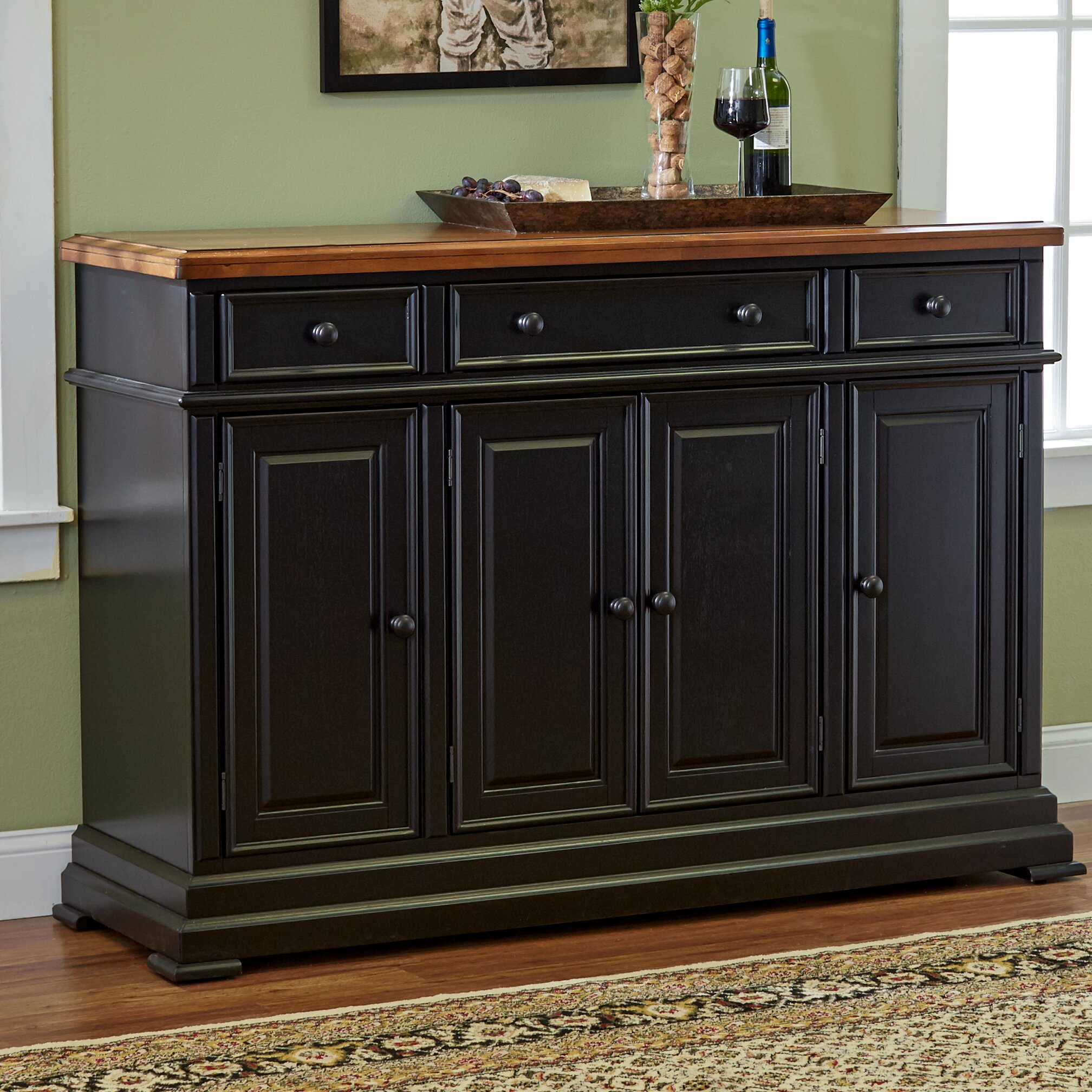 three posts courtdale sideboard reviews wayfair. Black Bedroom Furniture Sets. Home Design Ideas