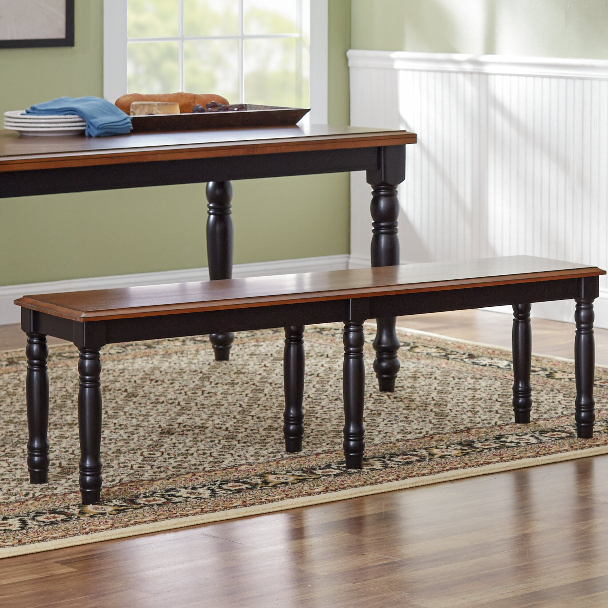 Three Posts Courtdale Wooden Kitchen Bench & Reviews