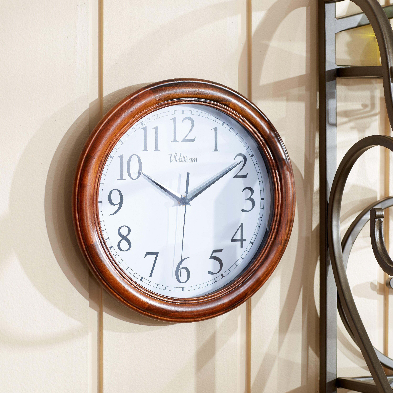 three posts 12 quot quartz analog solid wood wall clock reviews wayfair