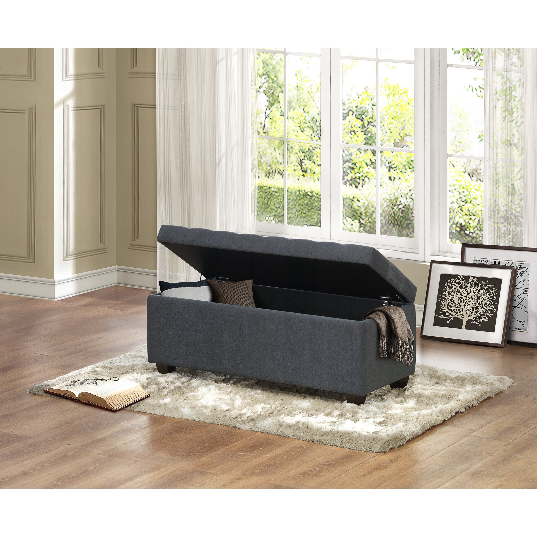 Three Posts Virgil Upholstered Storage Bedroom Bench Reviews Wayfair