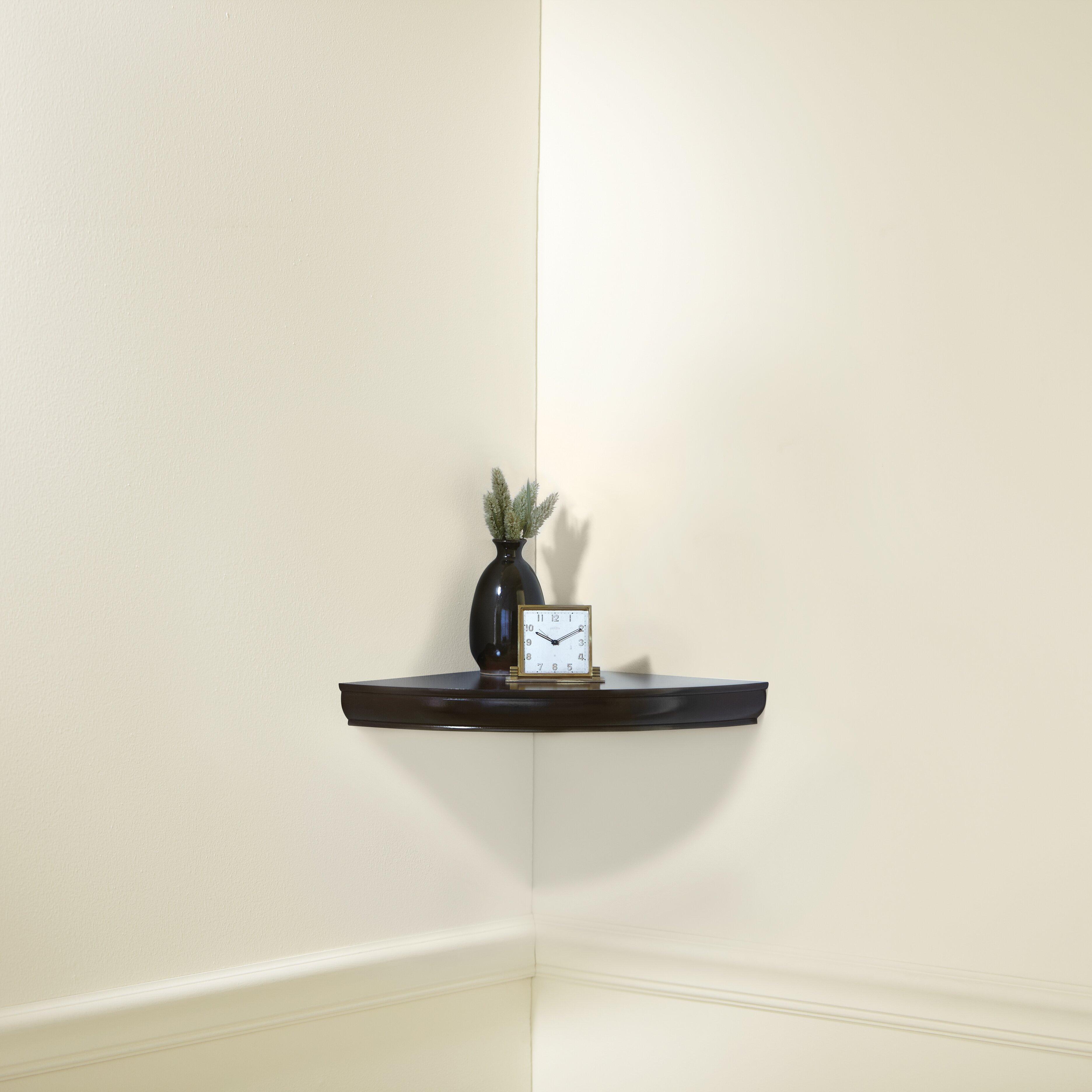 Three Posts Lisbon Floating Corner Shelf & Reviews  Wayfair