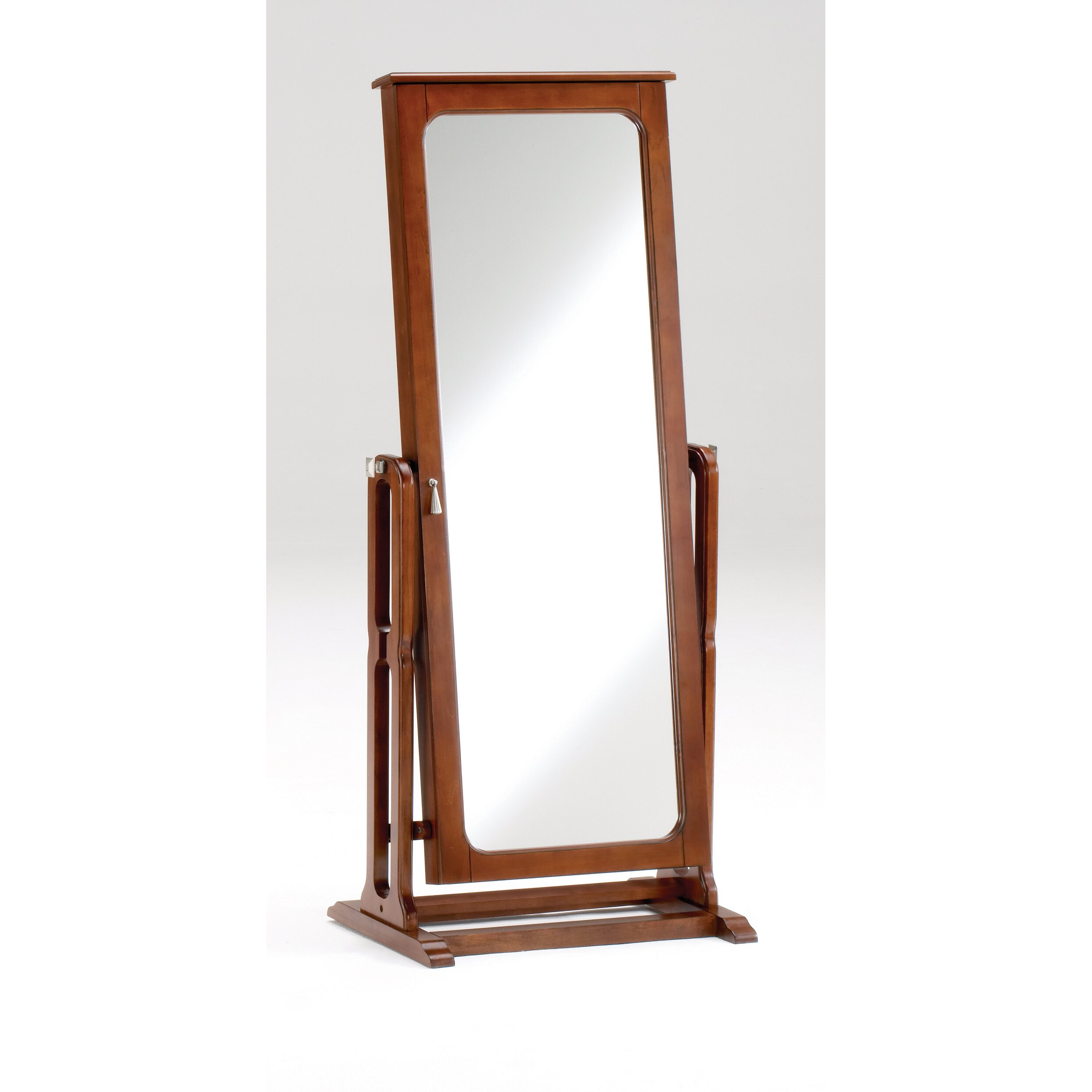 Three Posts Pittstown Jewelry Armoire With Mirror