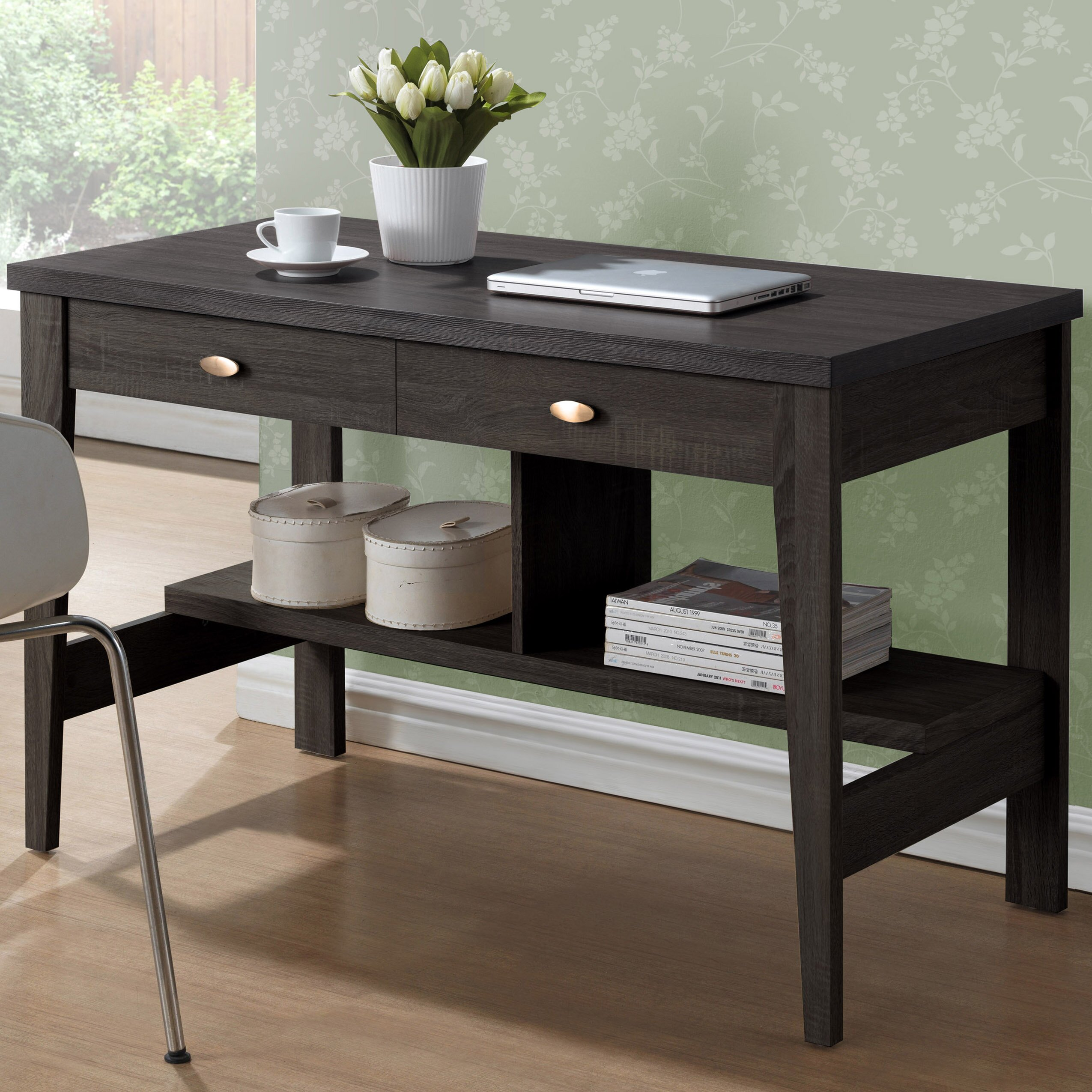 three posts holbrook writing desk with 2 drawers  reviews