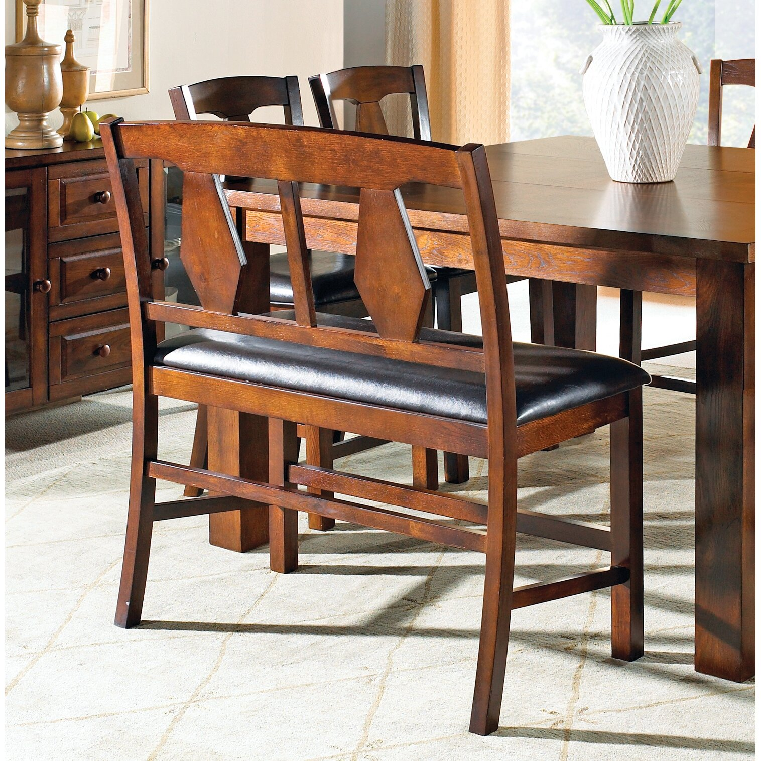 Three Posts Plainville Upholstered Kitchen Bench & Reviews
