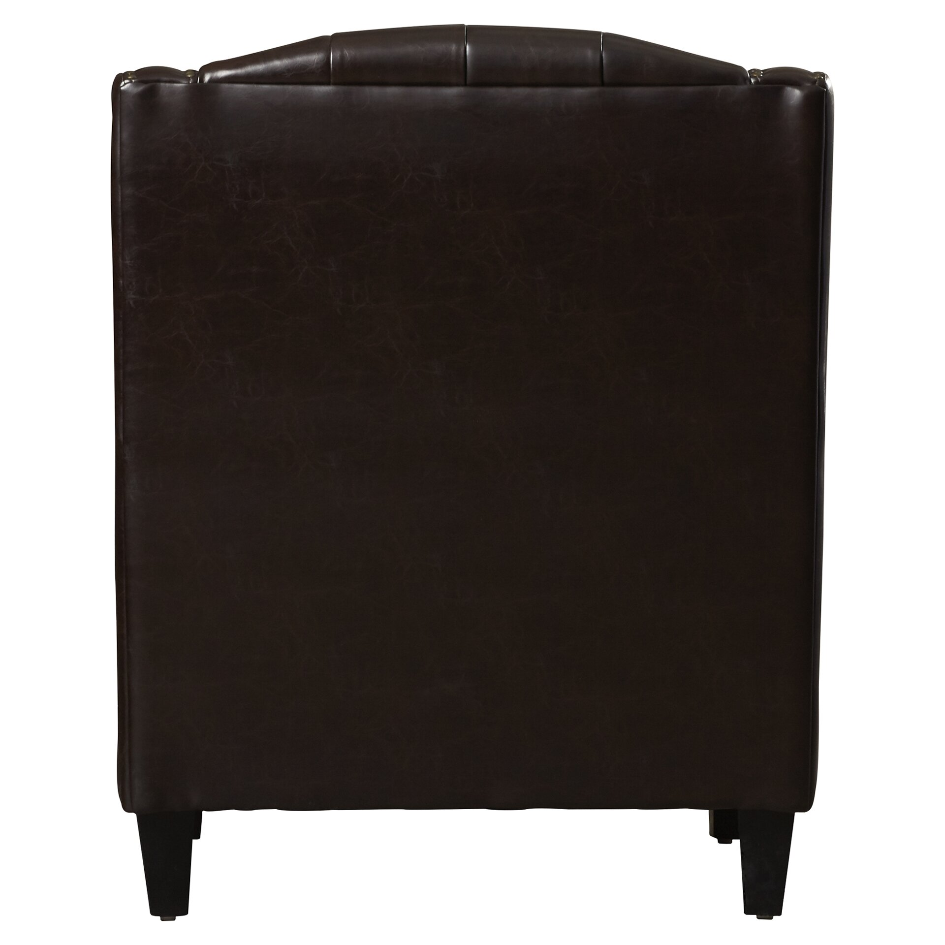 Three posts chris leather club chair and ottoman set