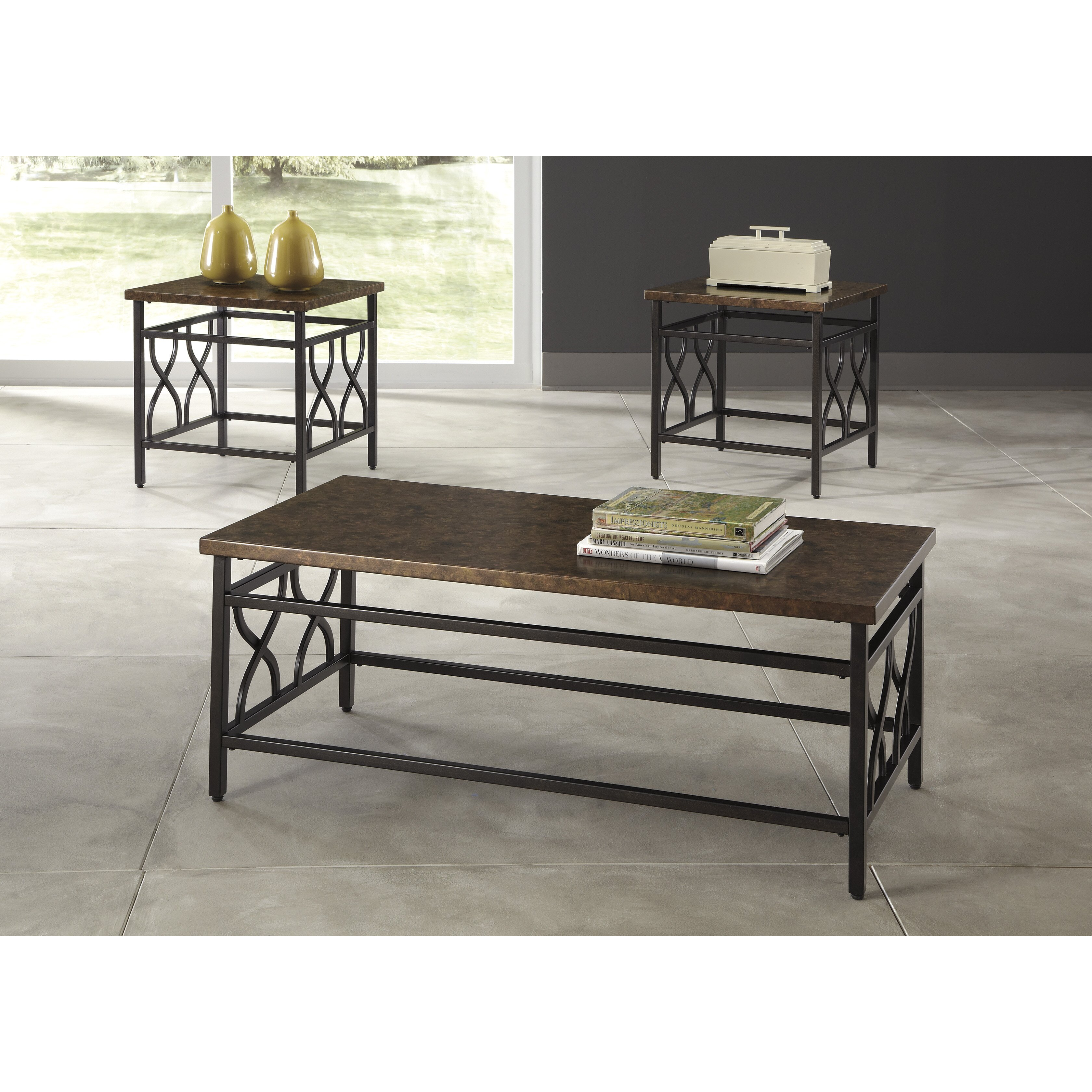 Veropeso 3 Piece Coffee Table Set: Three Posts Hartwick 3 Piece Coffee Table Set & Reviews