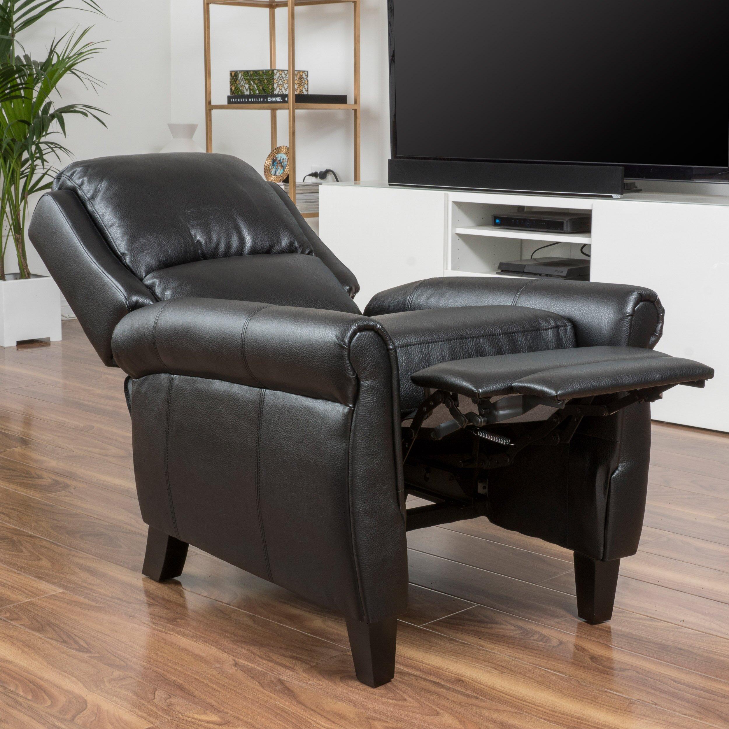 posts deerfiled pu leather recliner club chair reviews wayfair