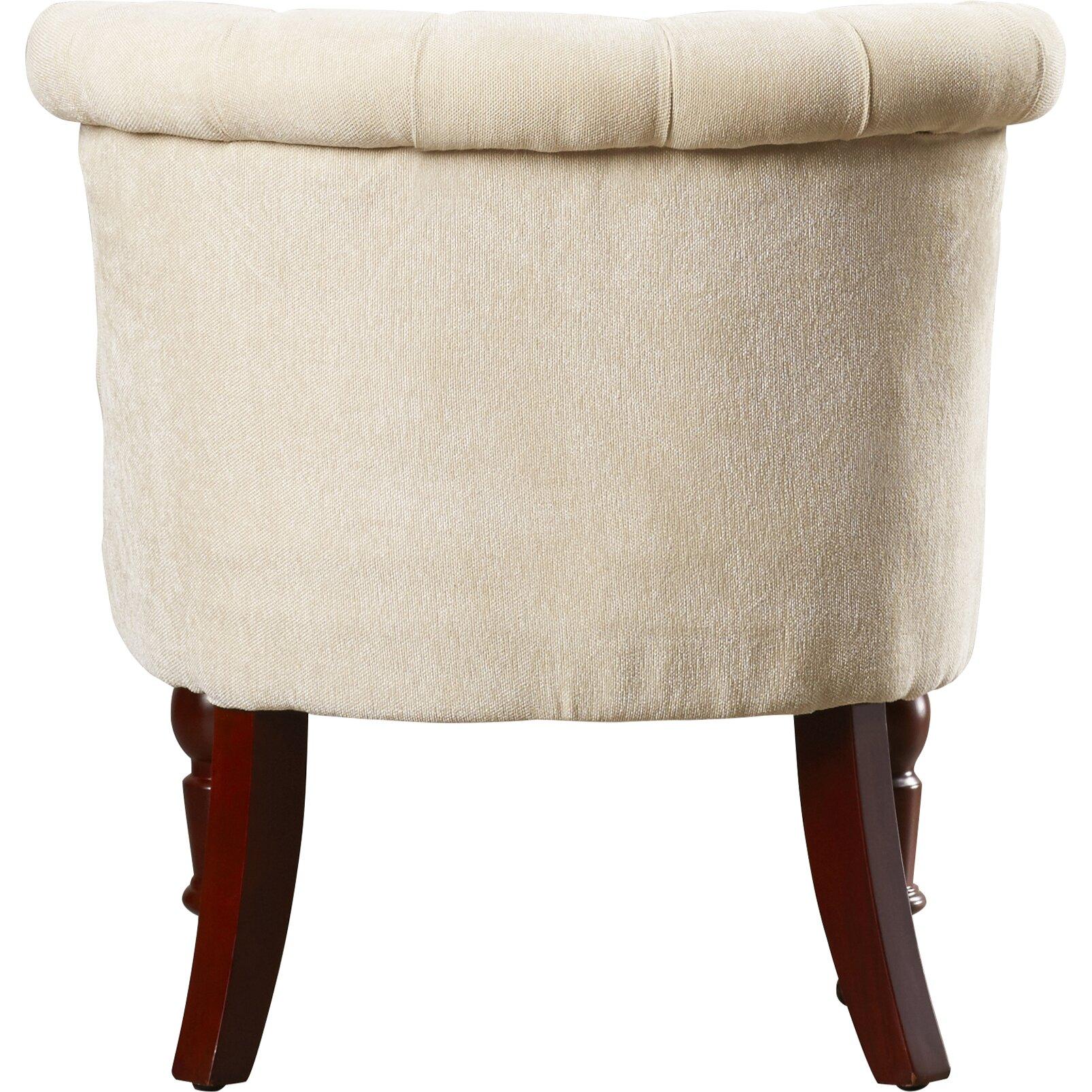 Three Posts Madrid Tufted Fabric Slipper Chair Reviews Wayfair