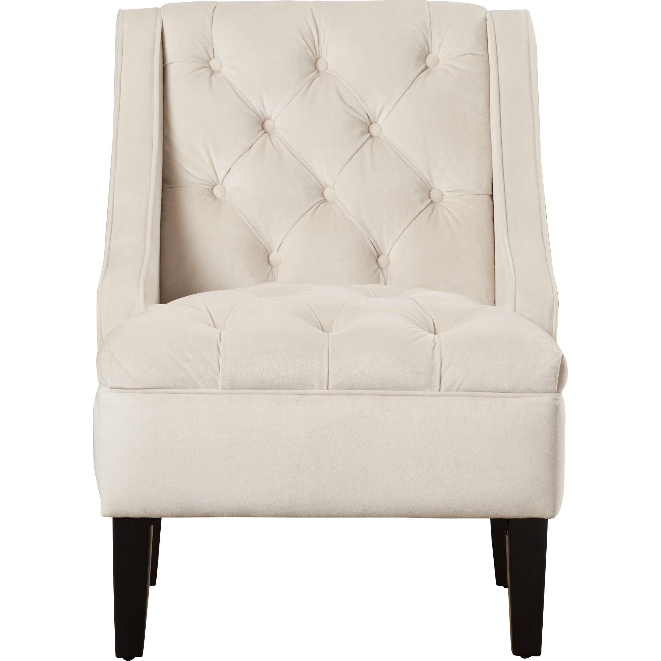Three Posts Darien Tufted Swoop Arm Chair Amp Reviews Wayfair