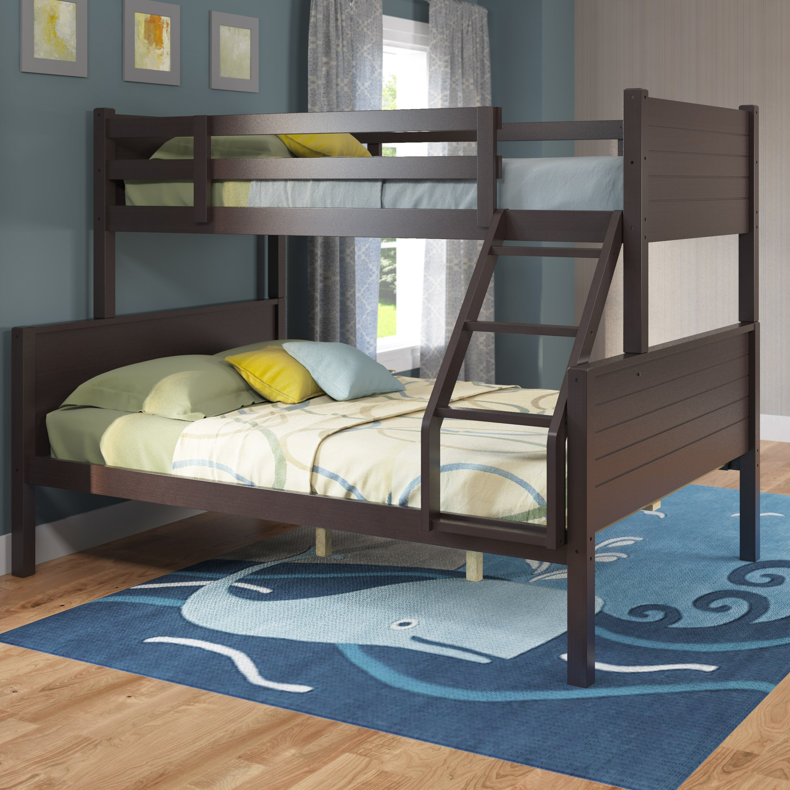 three posts tyre twin over full bunk bed reviews wayfair. Black Bedroom Furniture Sets. Home Design Ideas
