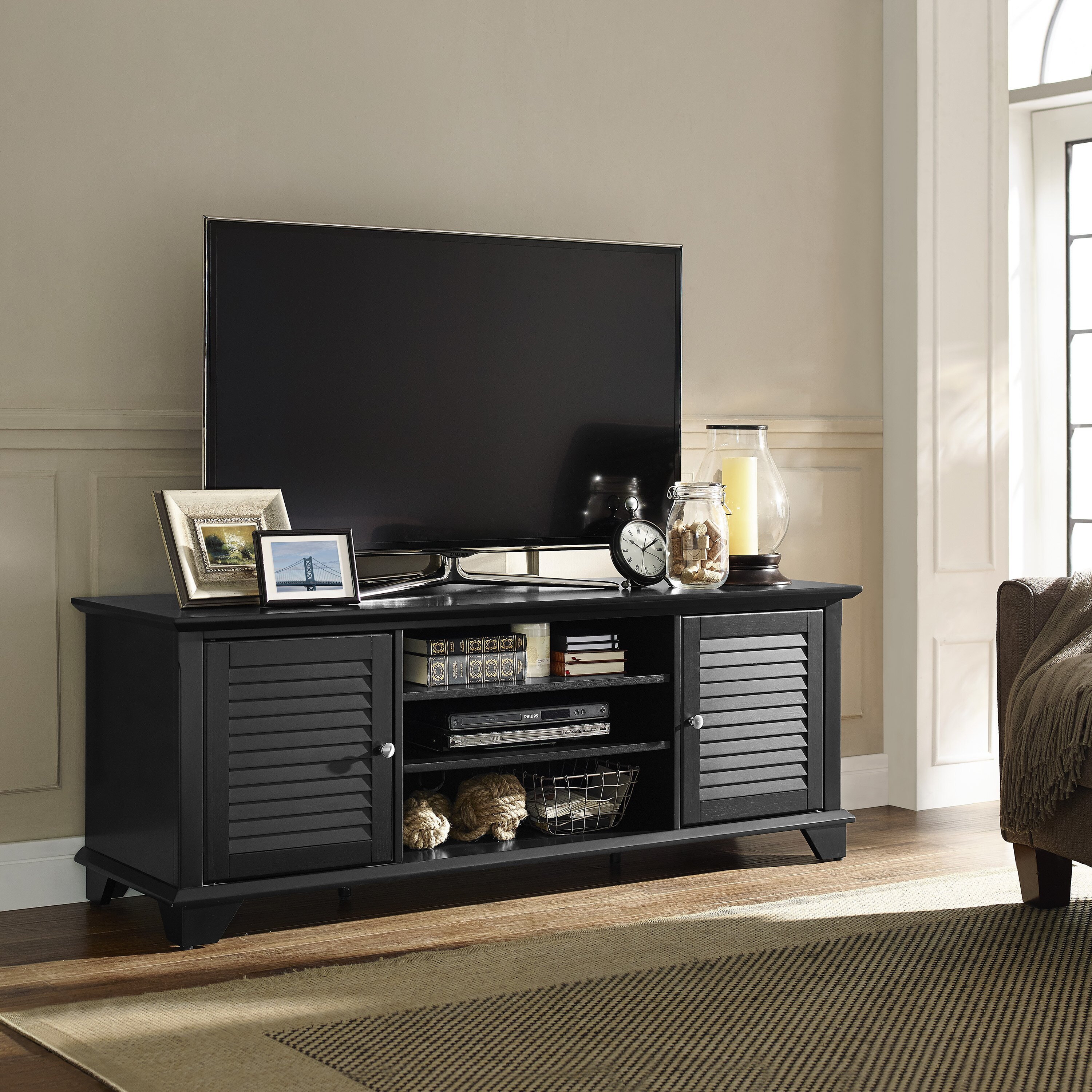 Three posts hunterstown tv stand reviews wayfair for Living room table sets with tv stand