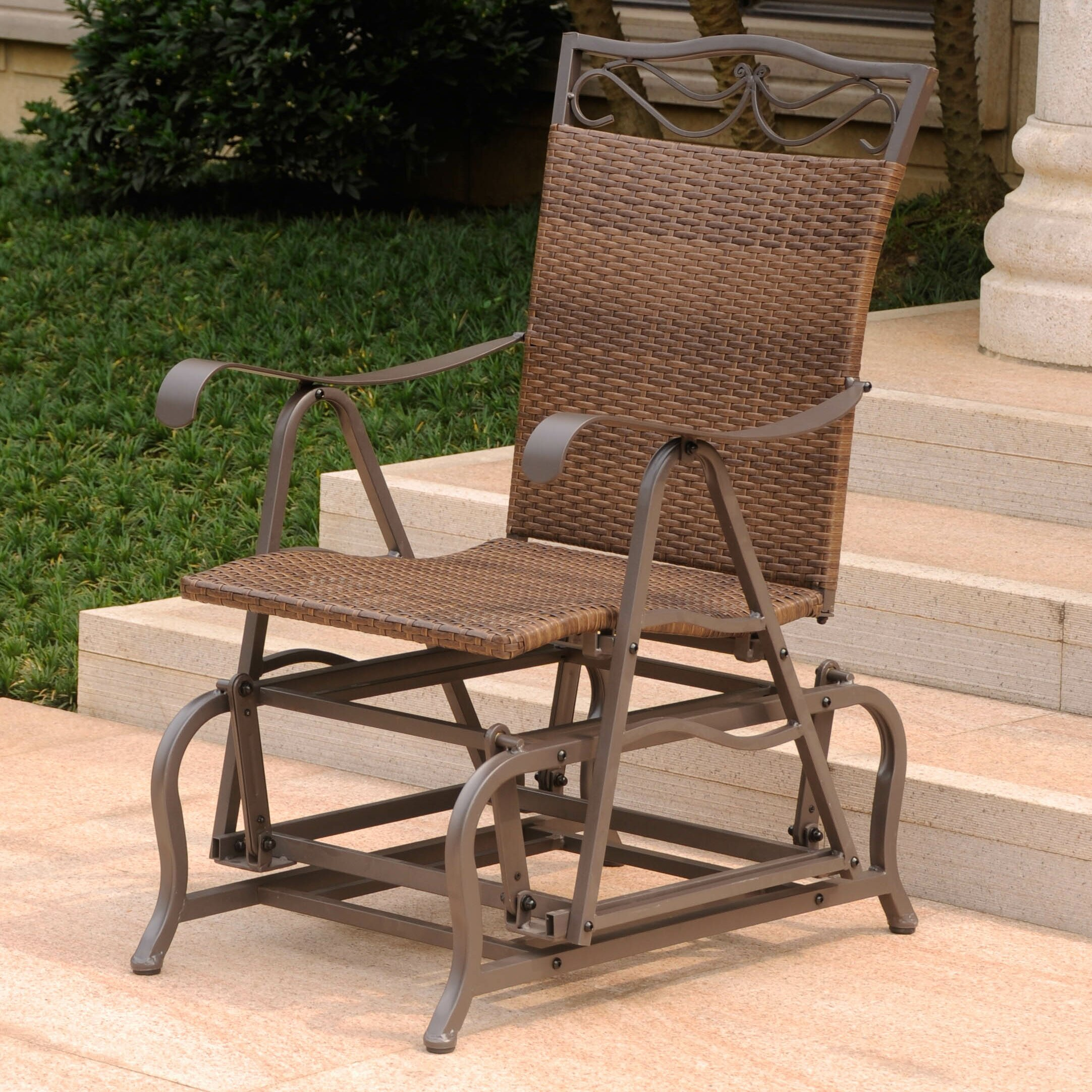 Three Posts Meetinghouse Patio Glider Chair & Reviews ...