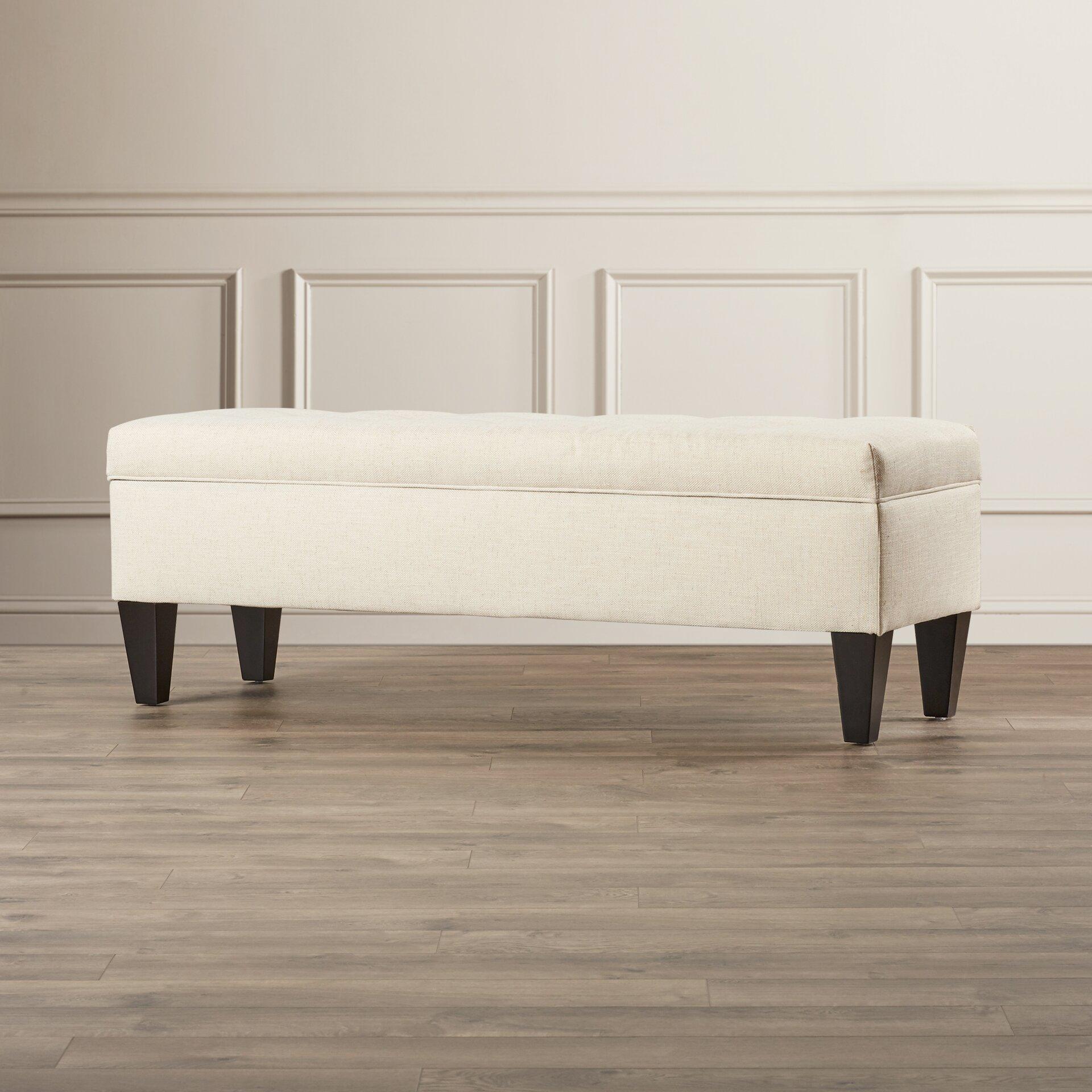 Three Posts Tusarora Upholstered Storage Bench Reviews