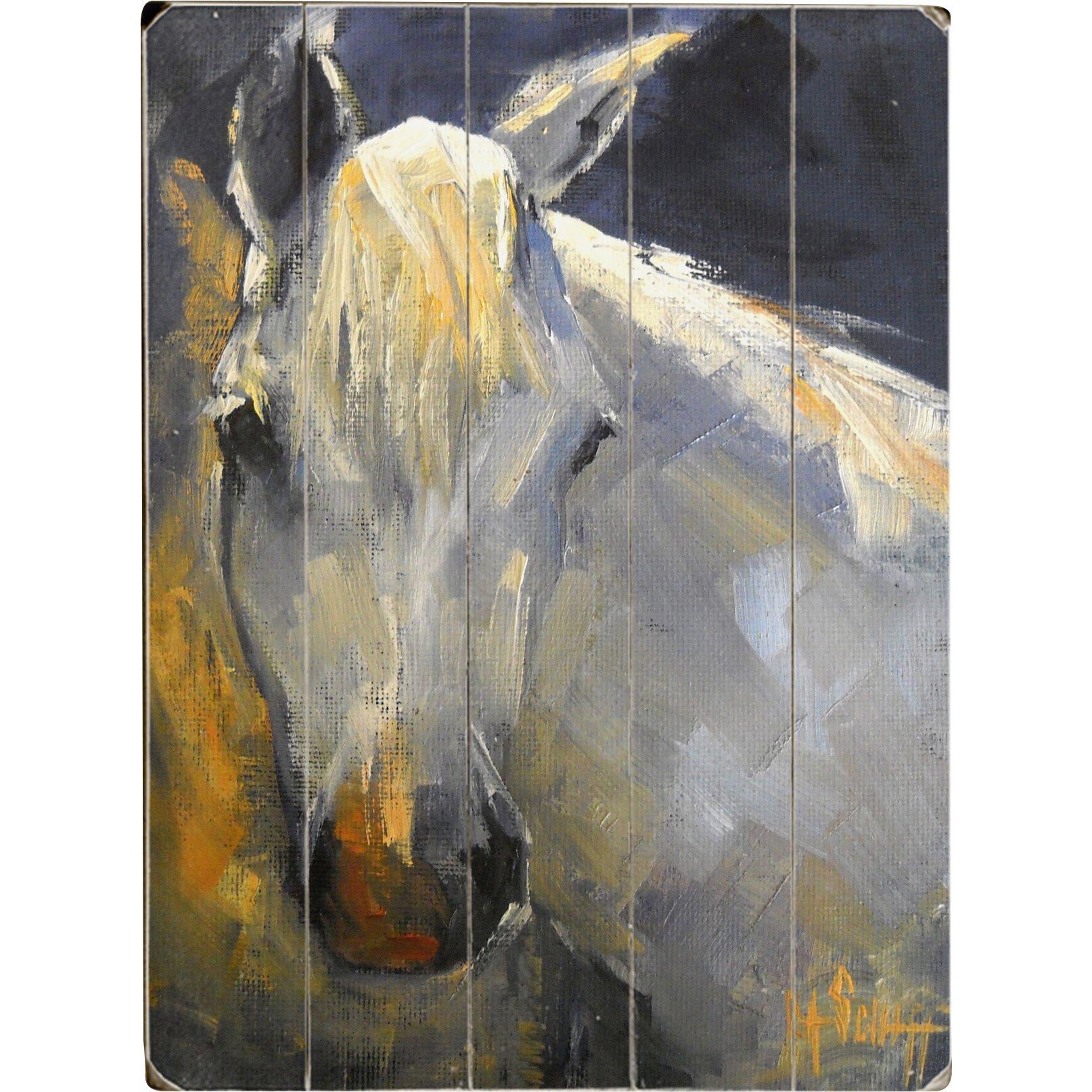 Three Posts White Horse Wall Art & Reviews | Wayfair