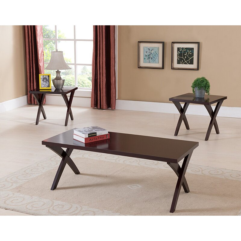 Veropeso 3 Piece Coffee Table Set: Three Posts Aldan 3 Piece Coffee Table Set