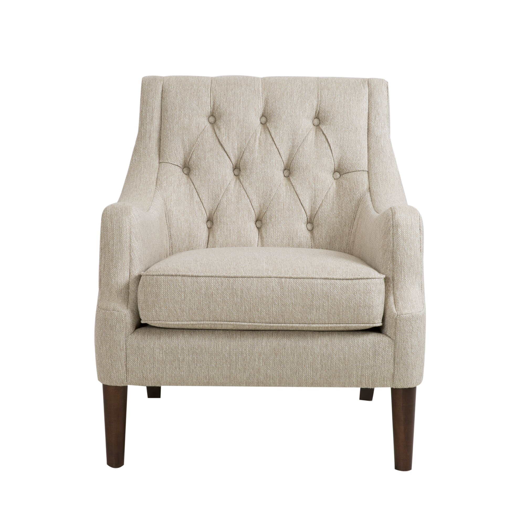 Three Posts Rogersville Button Tufted Armchair & Reviews ...
