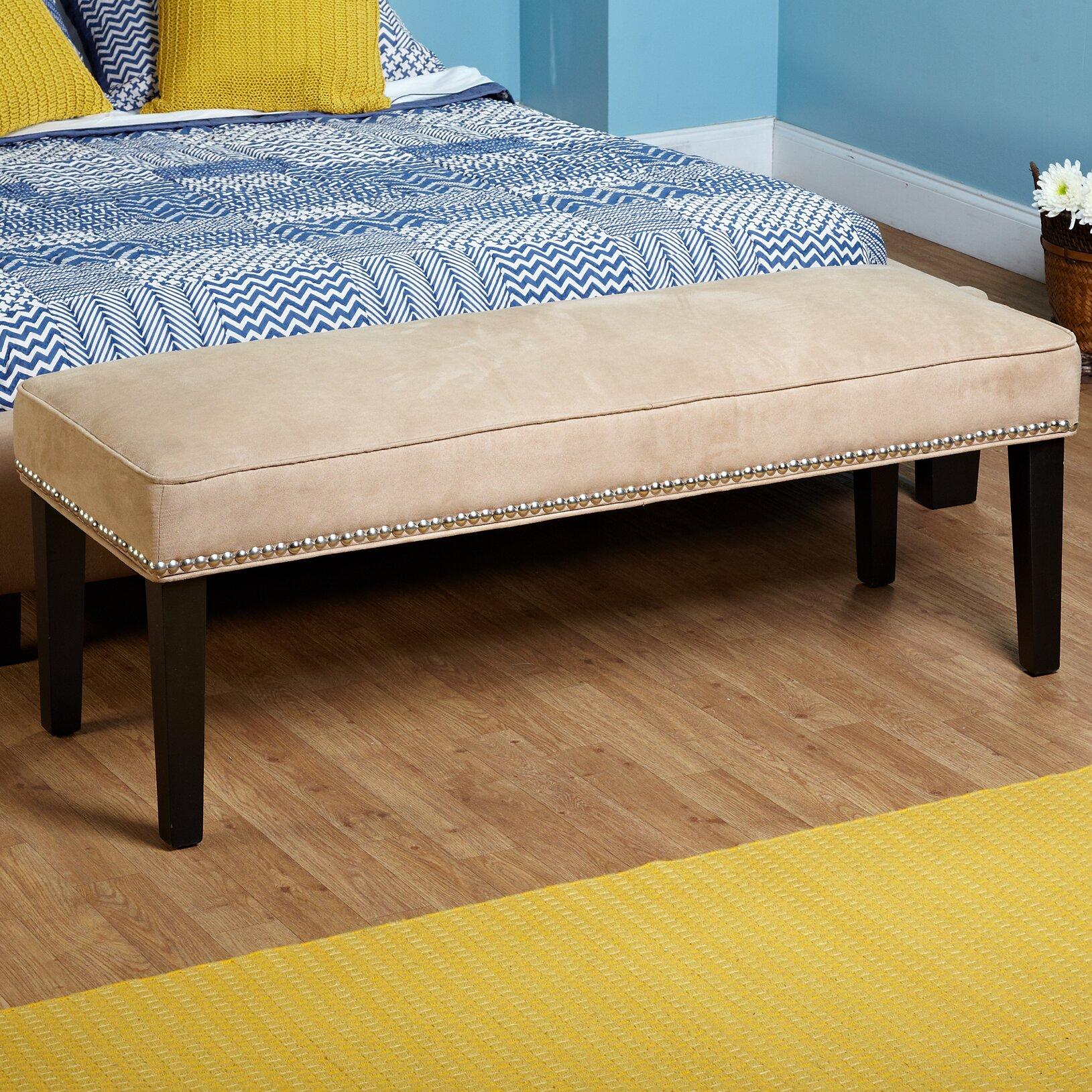 Three Posts Methuen Wood Bedroom Bench & Reviews