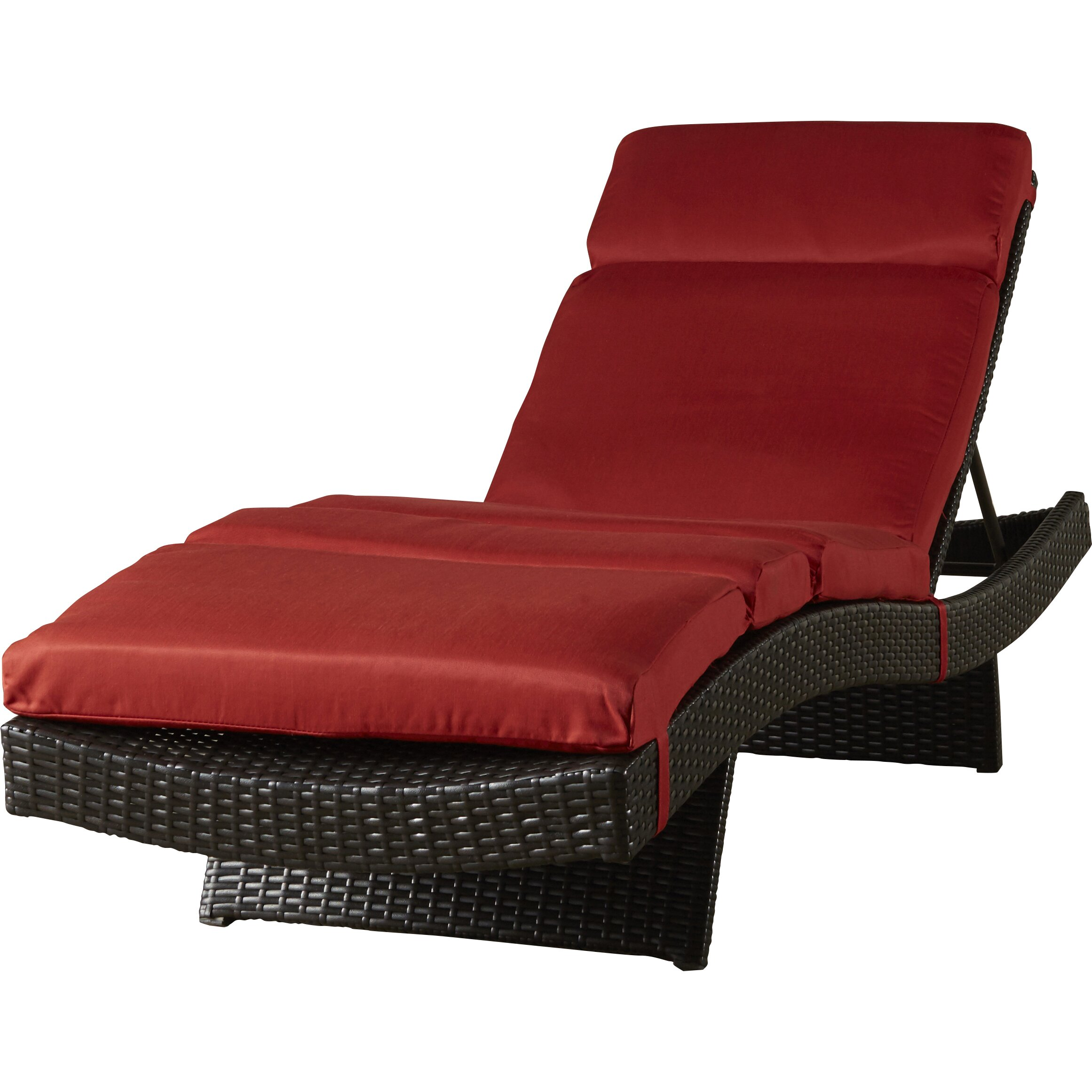 Three posts northridge chaise lounge with cushion for Buy chaise lounge cushion