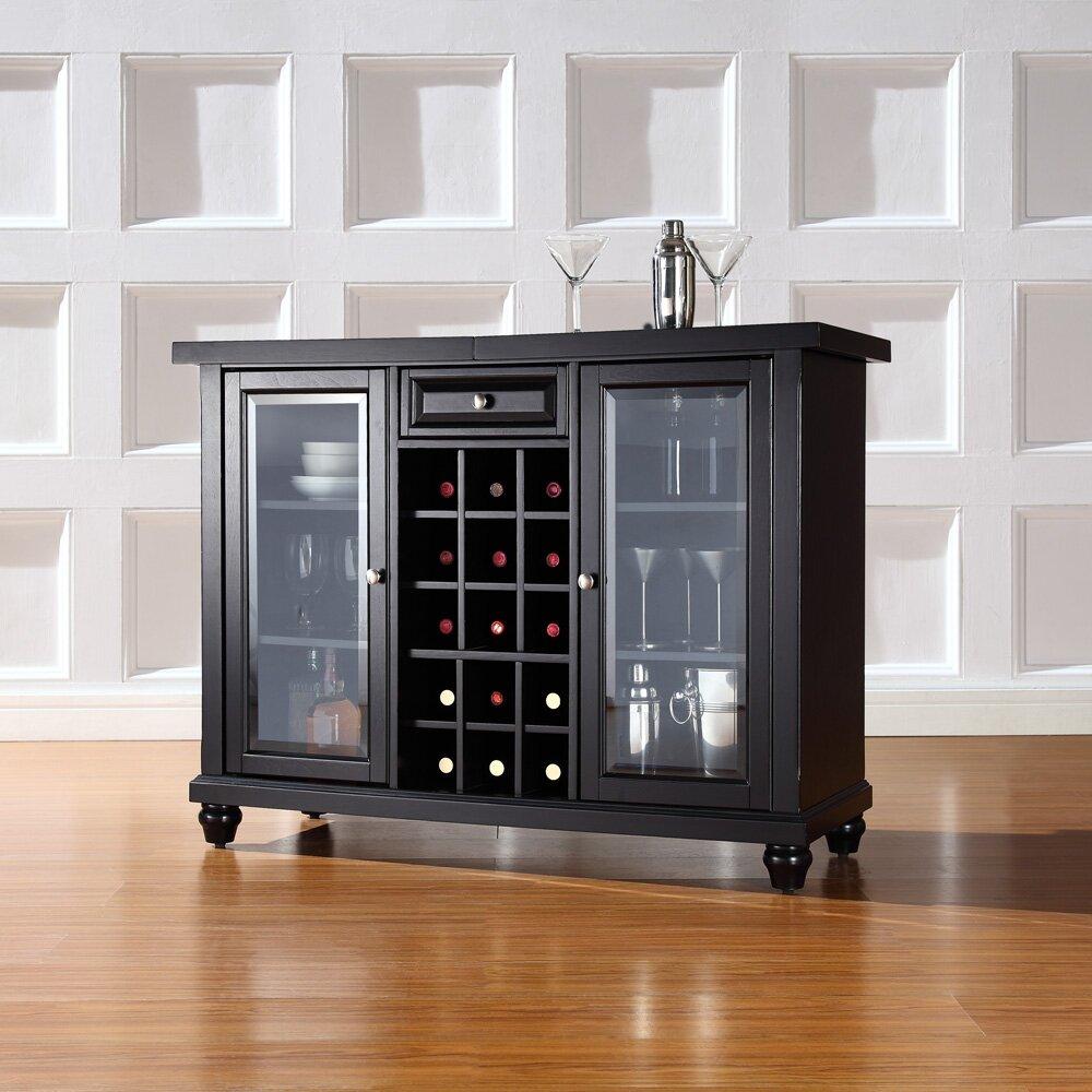 Bar Cabinet: Three Posts Shady Dale Bar Cabinet With Wine Storage