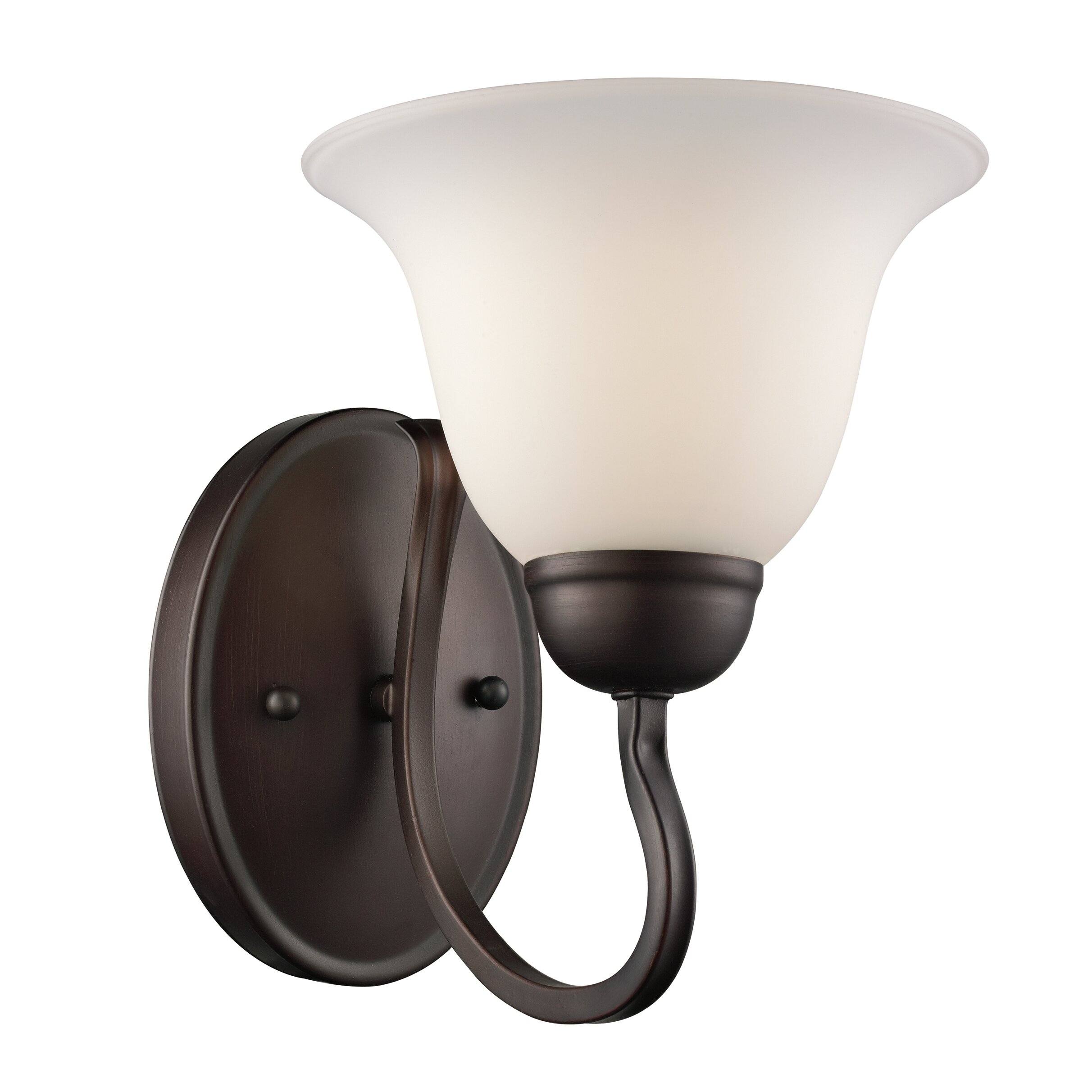Wall Sconce With Magnifying Glass : Three Posts Burton 1 Light Wall Sconce & Reviews Wayfair
