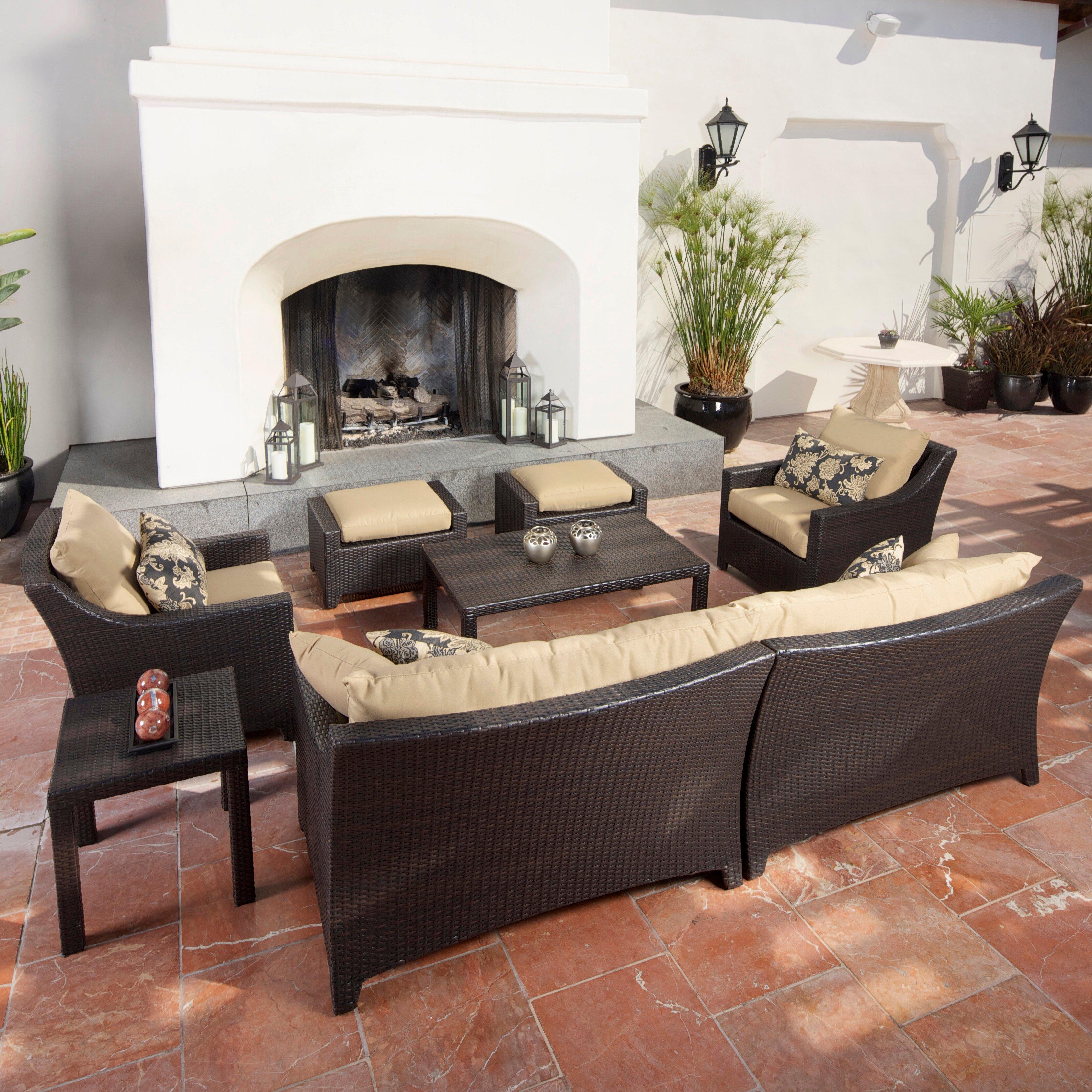 Patio Furniture Near Northridge Ca: Three Posts Northridge 7 Piece Deep Seating Group With