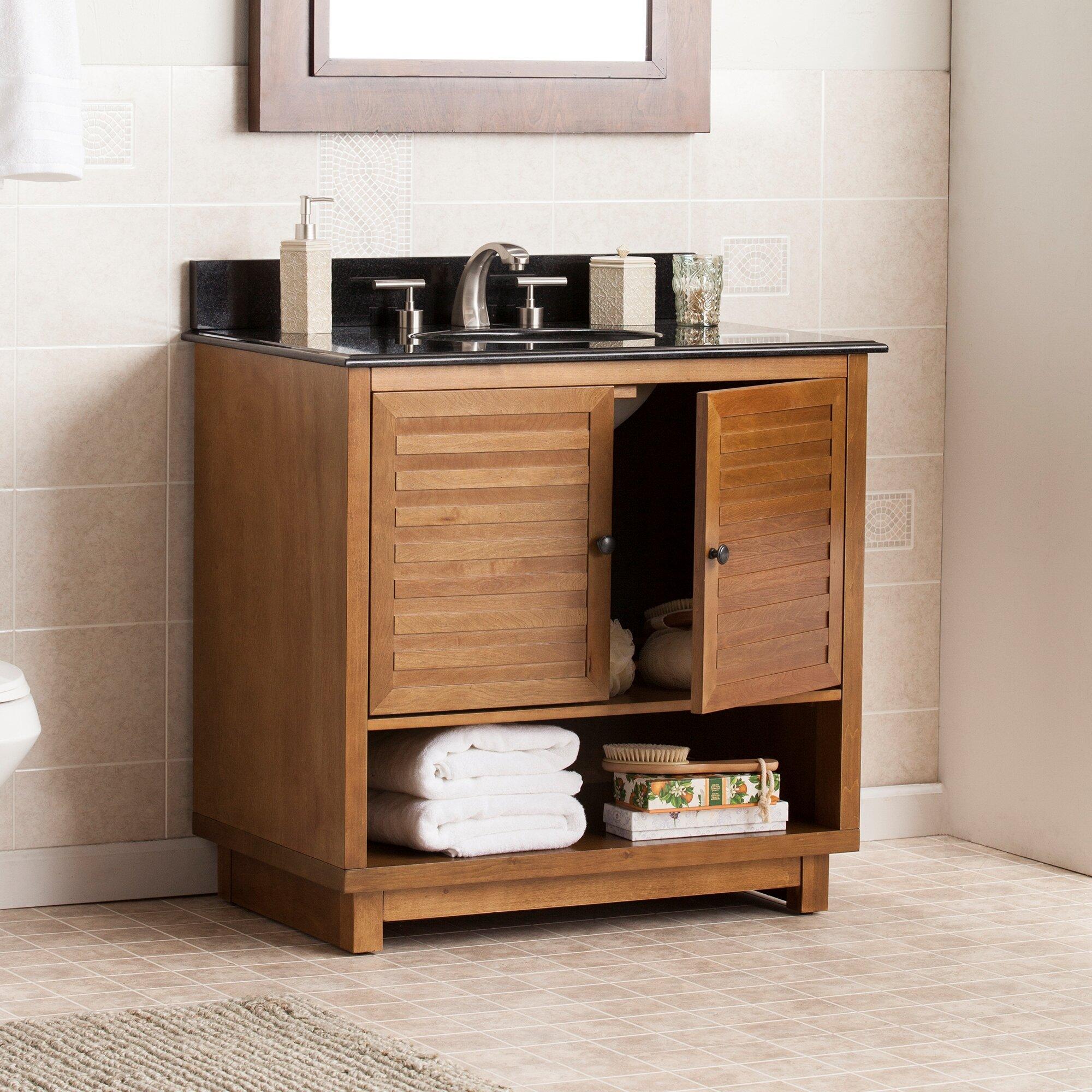 "Three Posts Worthen 34 25"" Single Bathroom Vanity Set with"
