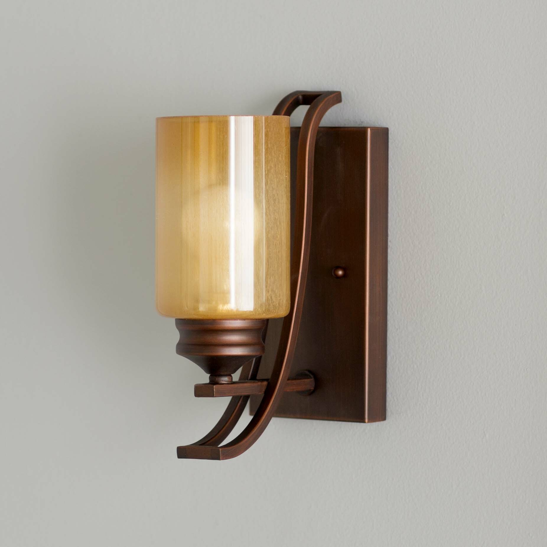 Three Posts Russell Farm 1 Light Wall Sconce & Reviews