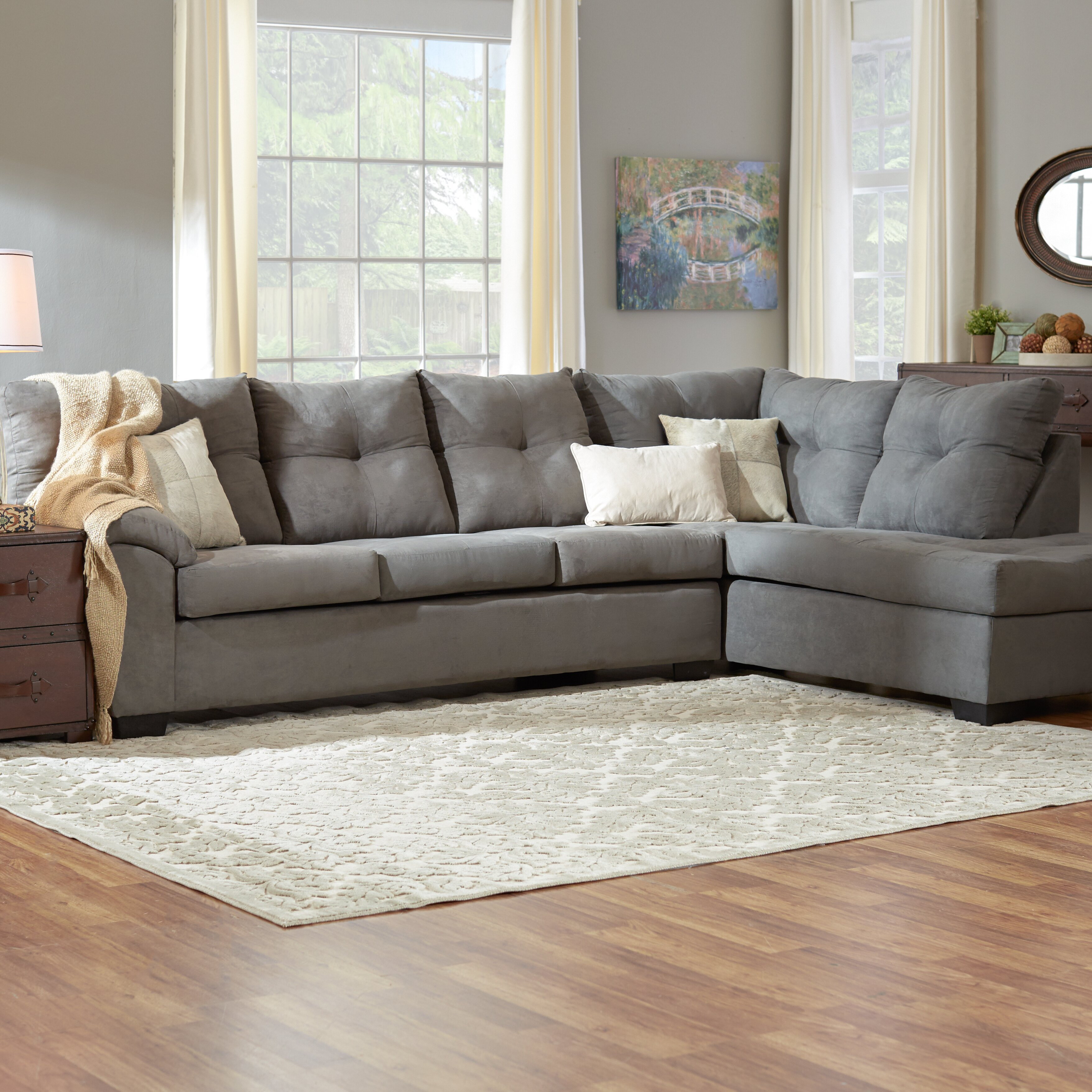 Three posts camden right hand facing sectional reviews for Wayfair sectionals