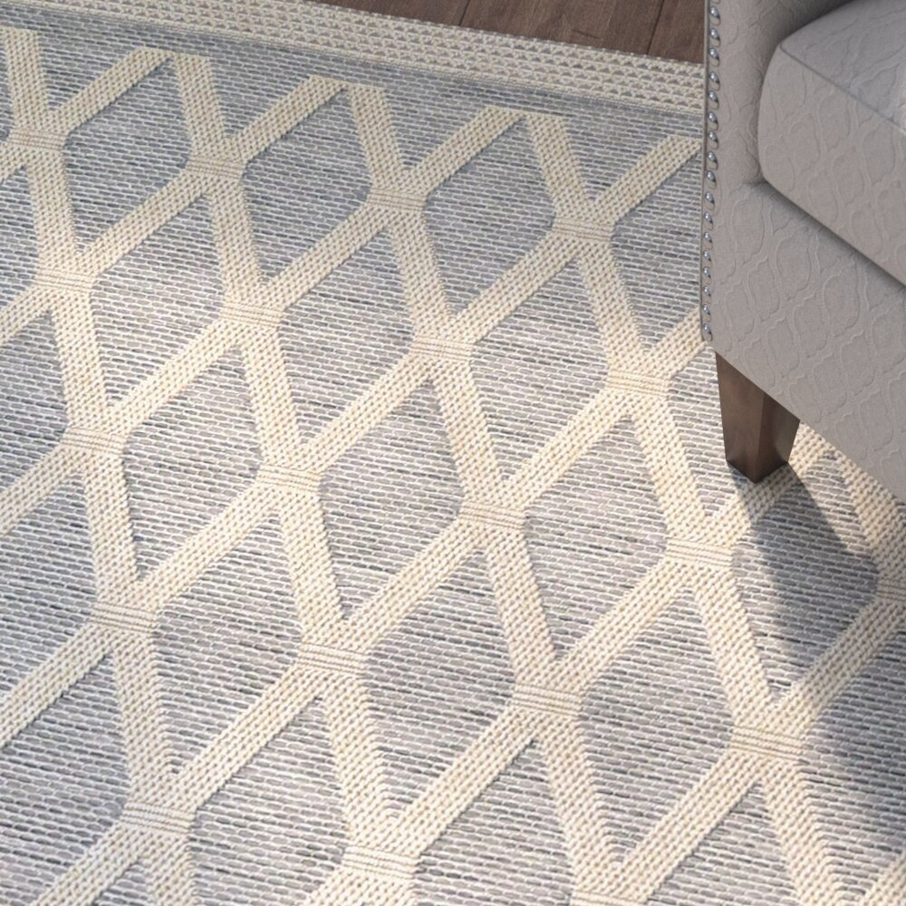 Three Posts Acton Gray Tan Indoor Outdoor Area Rug