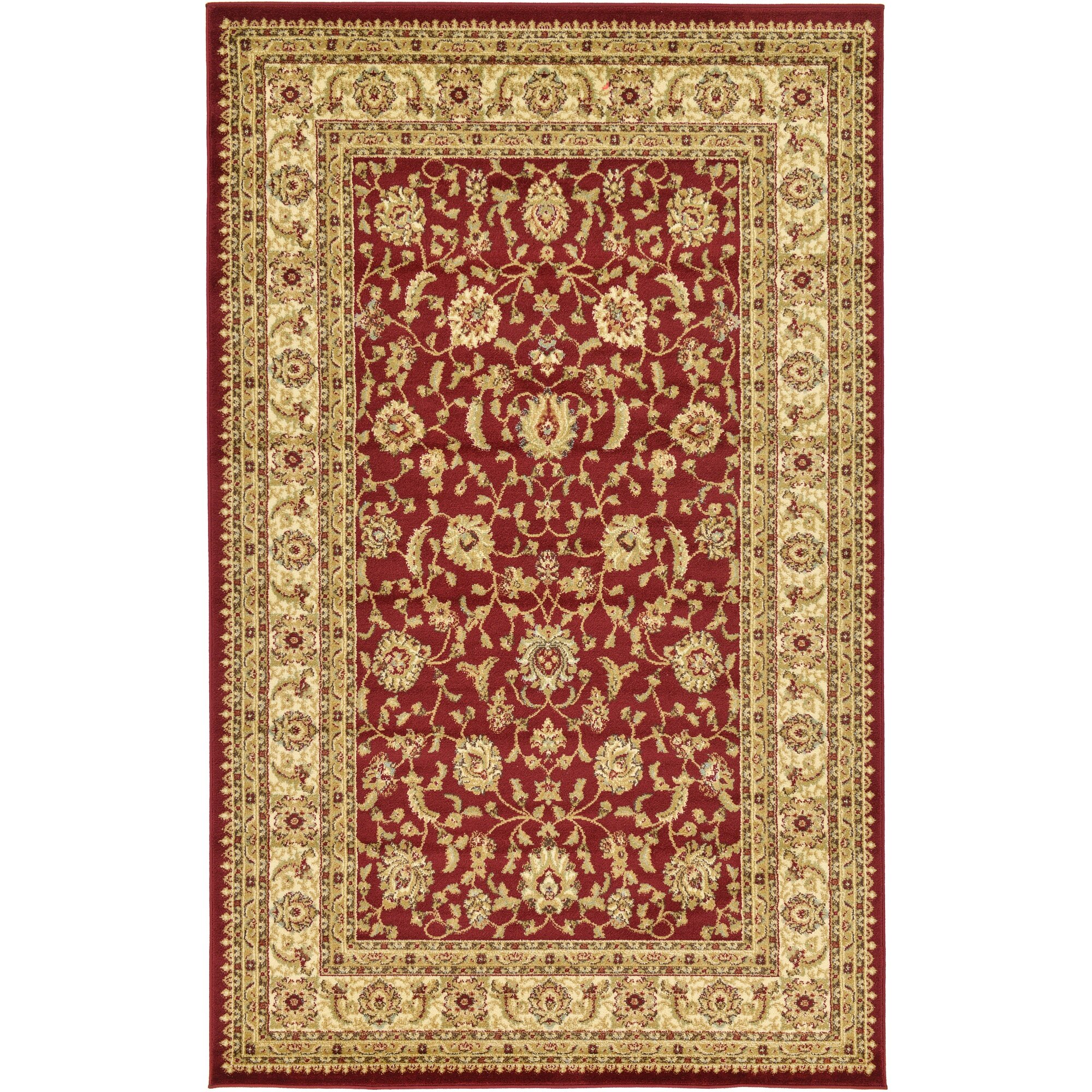 Three posts fairmount red cream area rug reviews wayfair for Cream and red rugs